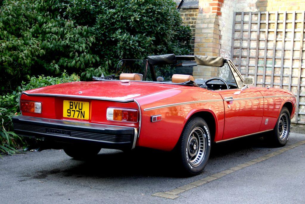 1975 Jensen-Healey rear three-quarter