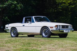 White Triumph Stag MK III Front Three-Quarter