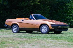 Bronze Triumph TR8 Front Three-Quarter