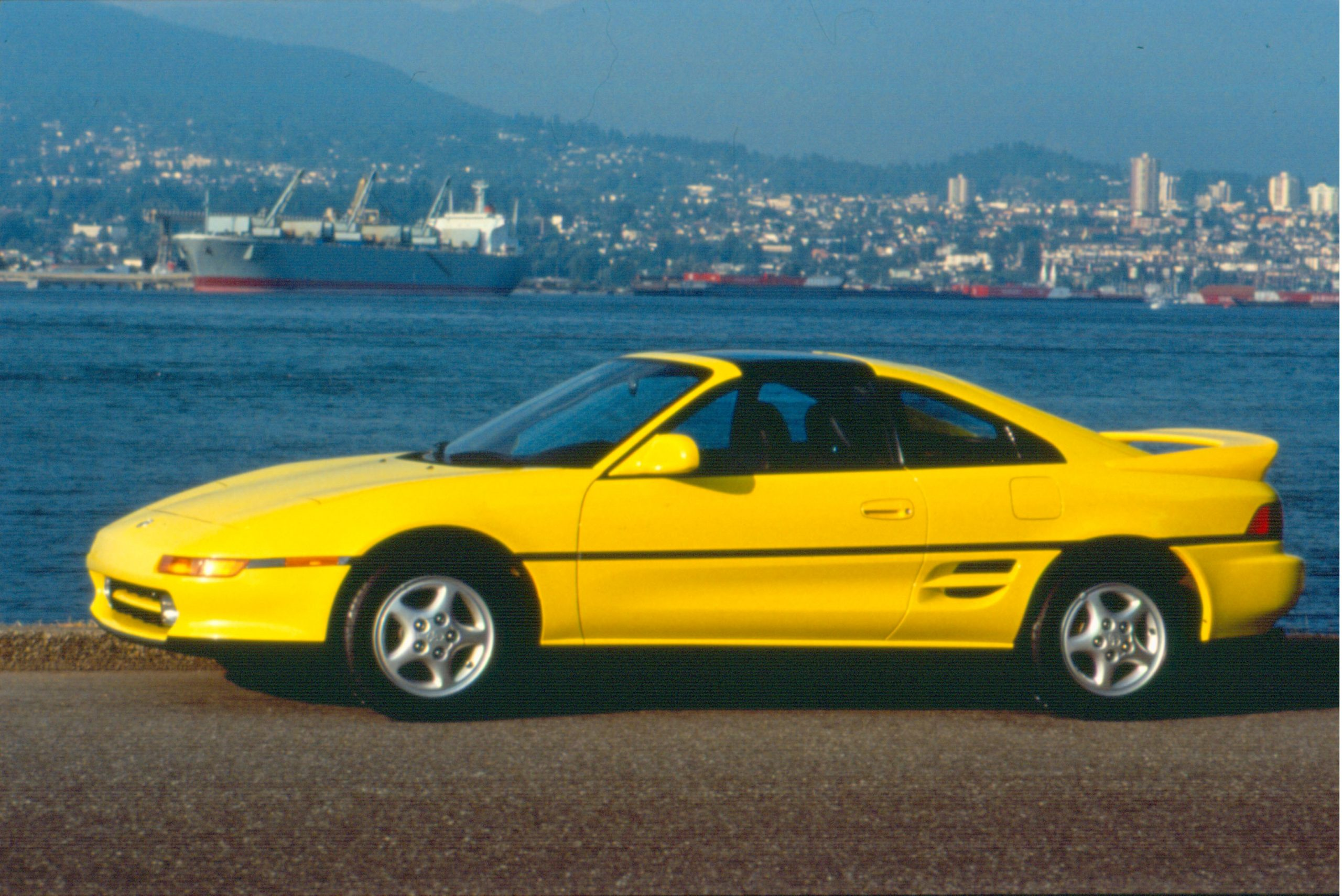 1992 MR2 Yellow Side Profile
