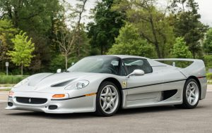silver Ferrari F50 front three-quarter