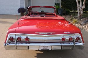 1962 chevrolet impala SS rear end red