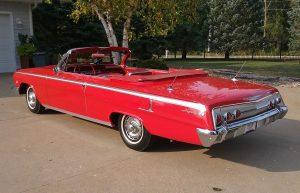 1962 chevrolet impala SS red rear