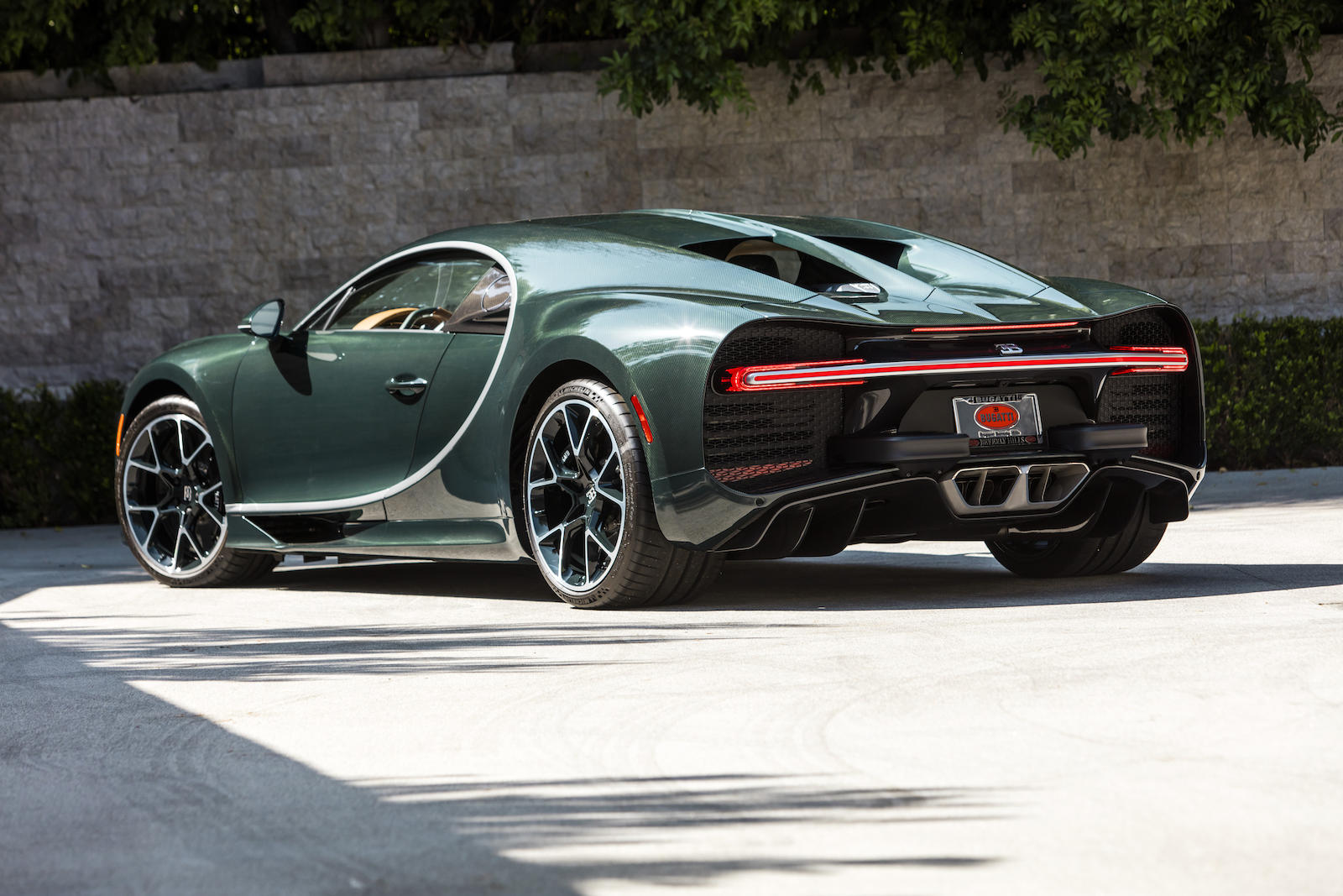 Bugatti Chiron rear three-quarter