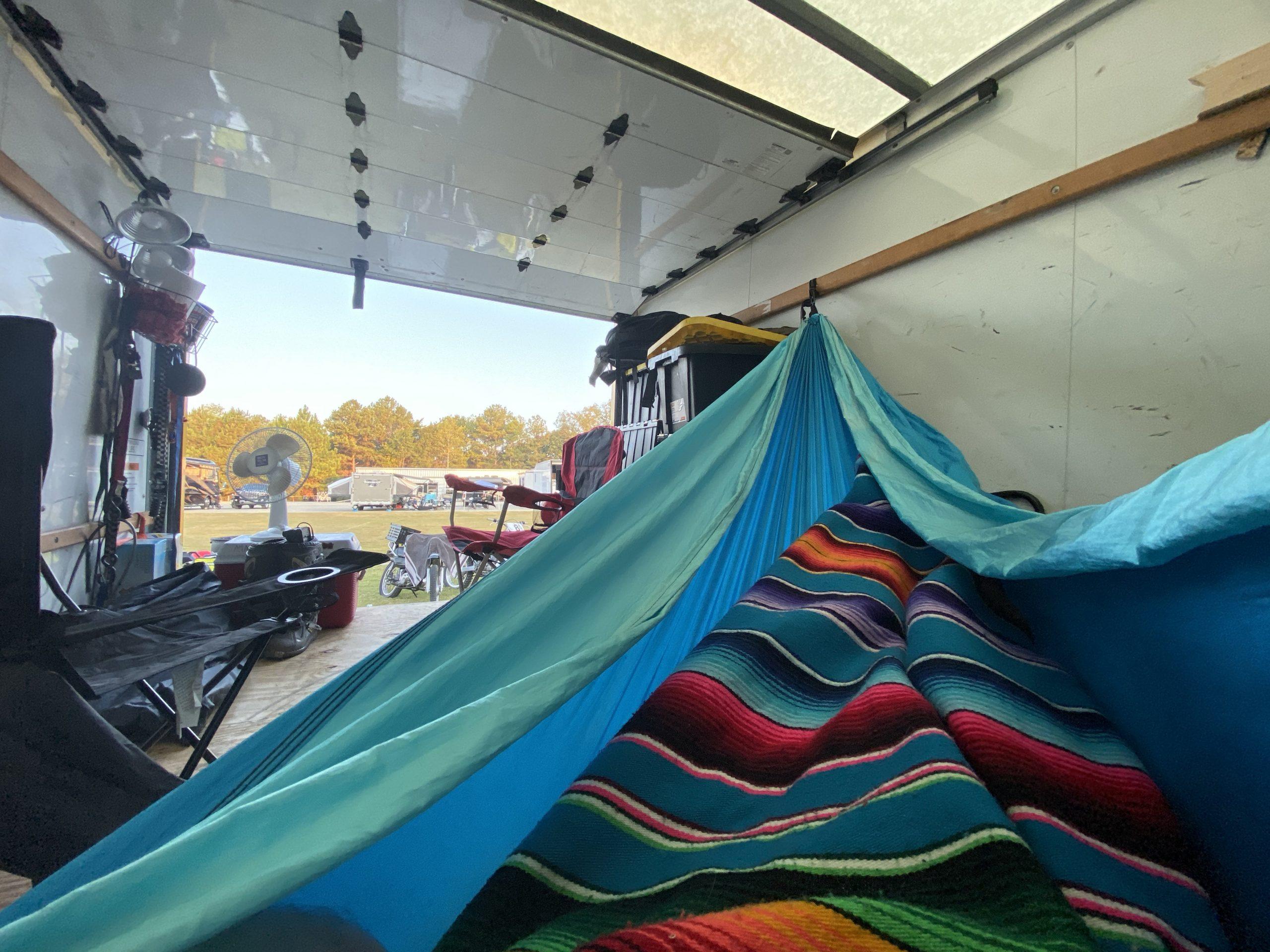Barber Bike Festival Truck Camping Hammock