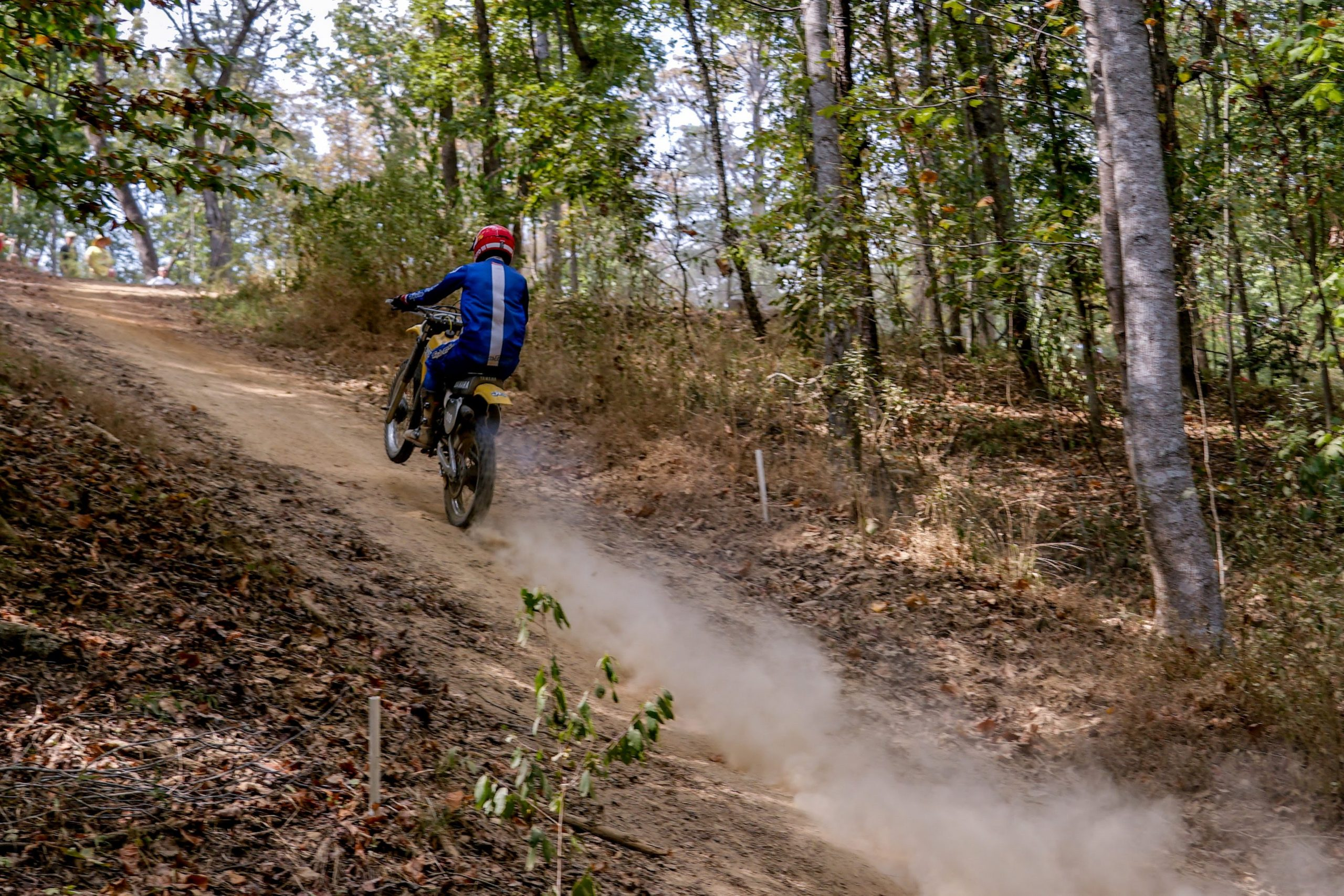 2019 Barber Vintage Festival Racer Wheelie Uphill