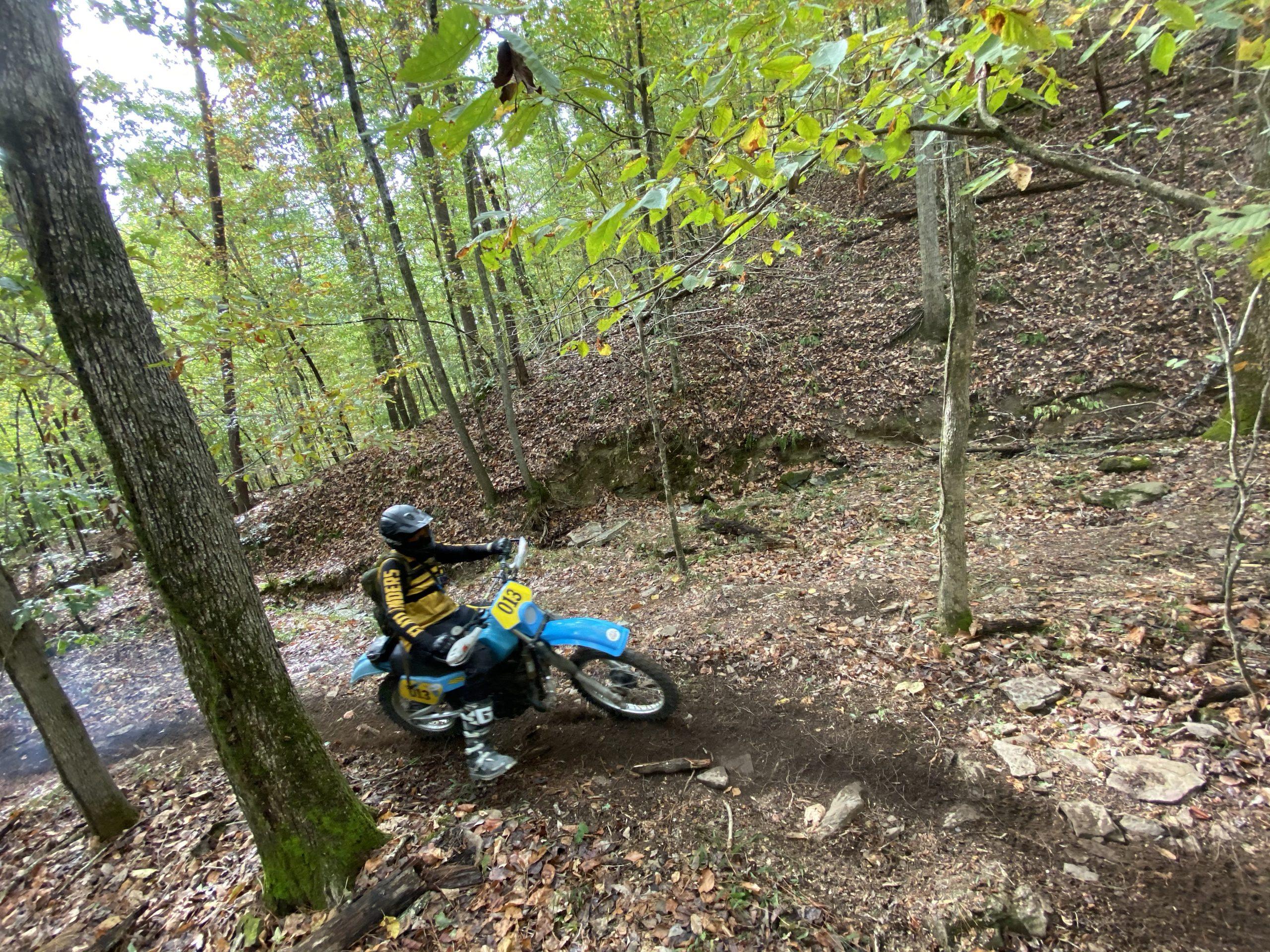 2019 Barber Vintage Festival Moto Rider Rips Trail Corner