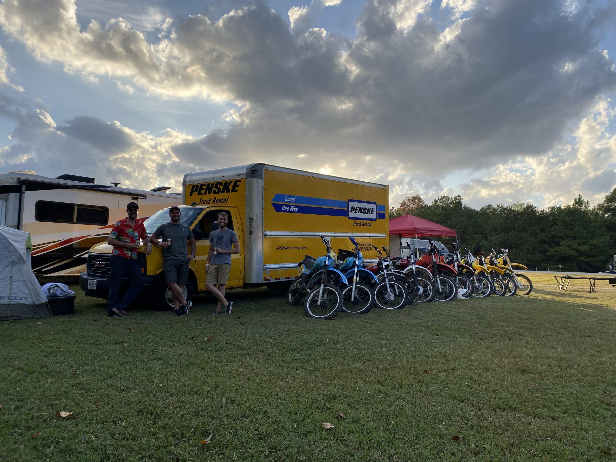 2019 Barber Vintage Festival Bikes in Row Three Friends