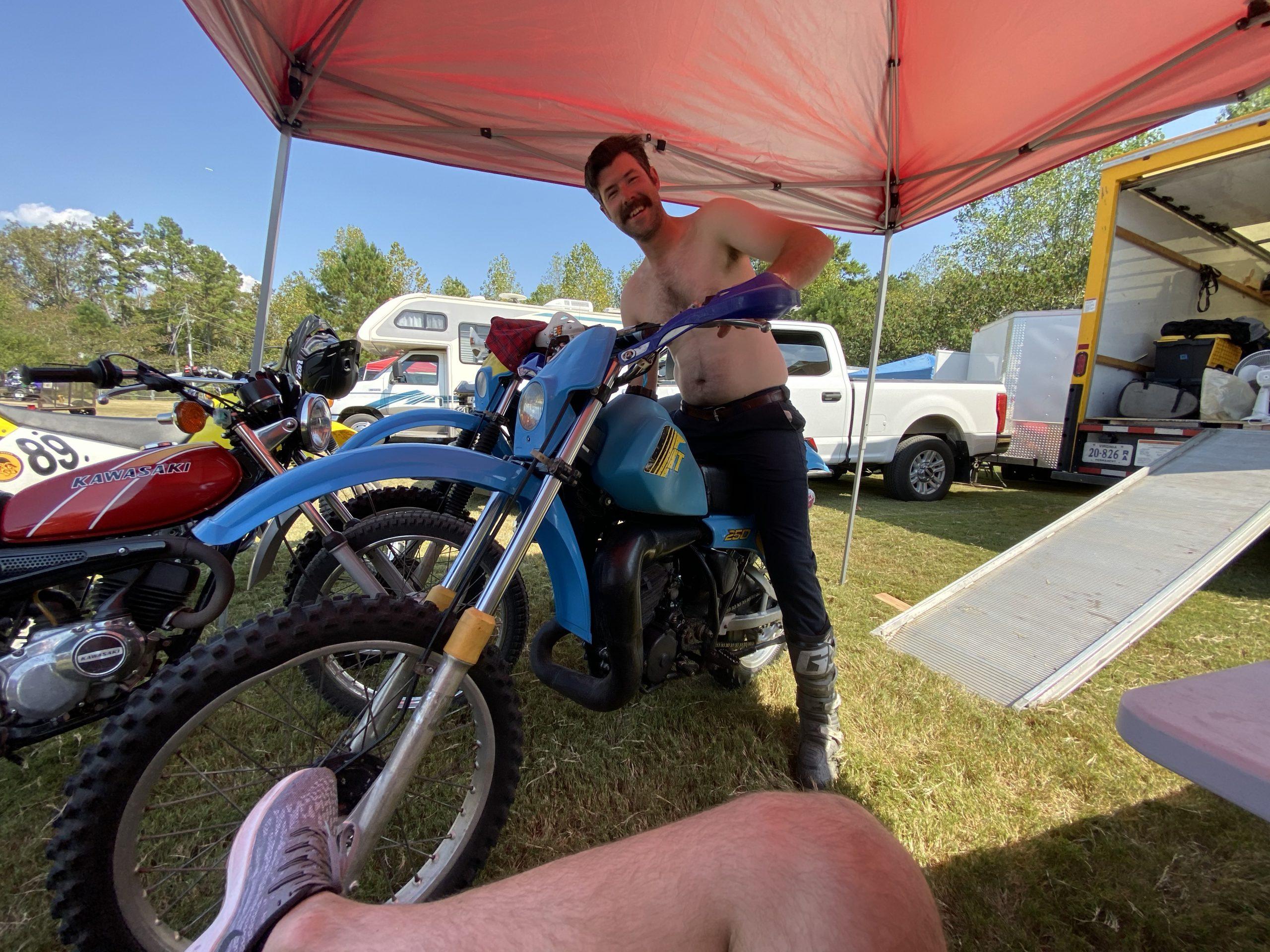 2019 Barber Vintage Festival Rider With Moto