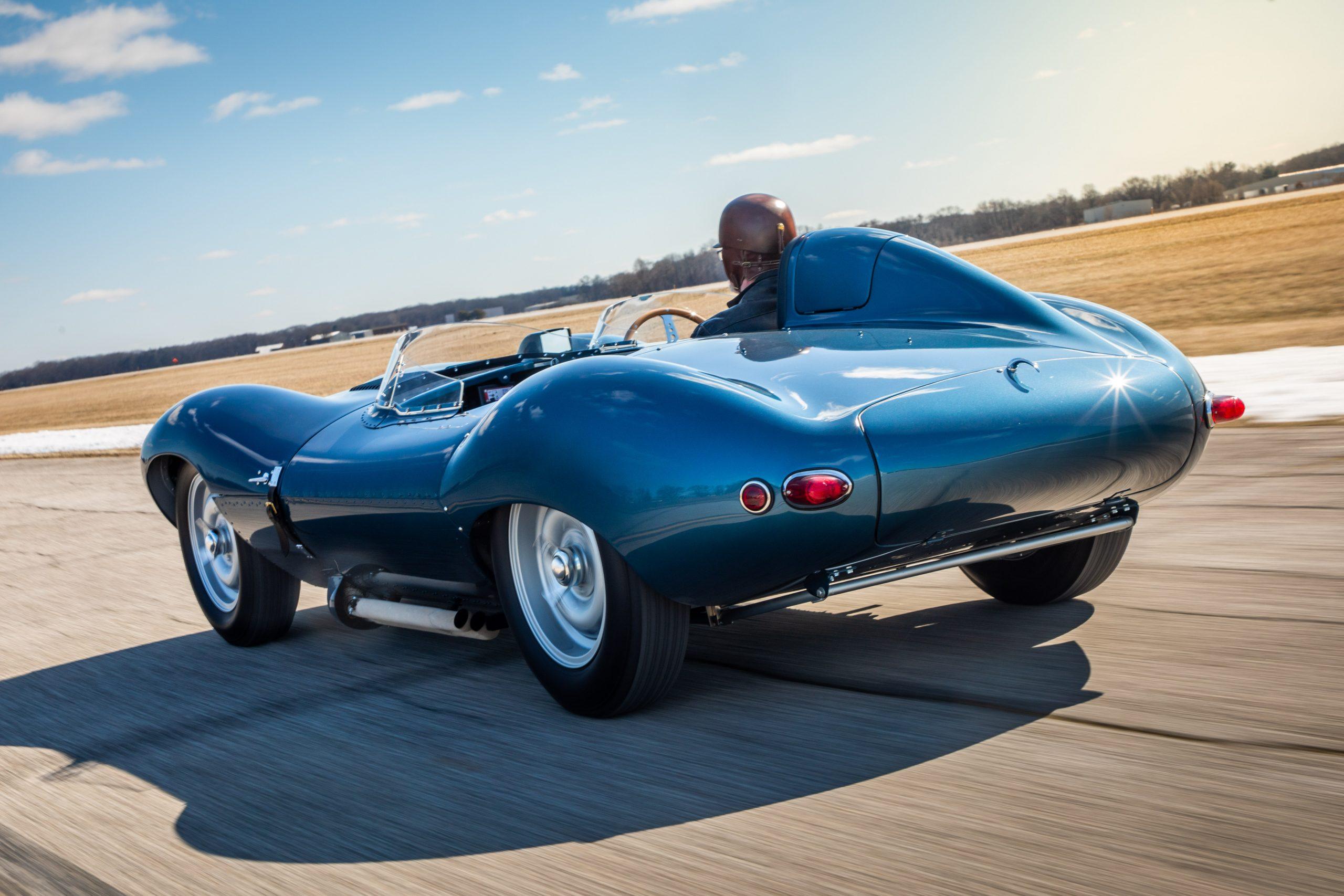 1955 Jaguar D-Type Continuation rear three-quarter action