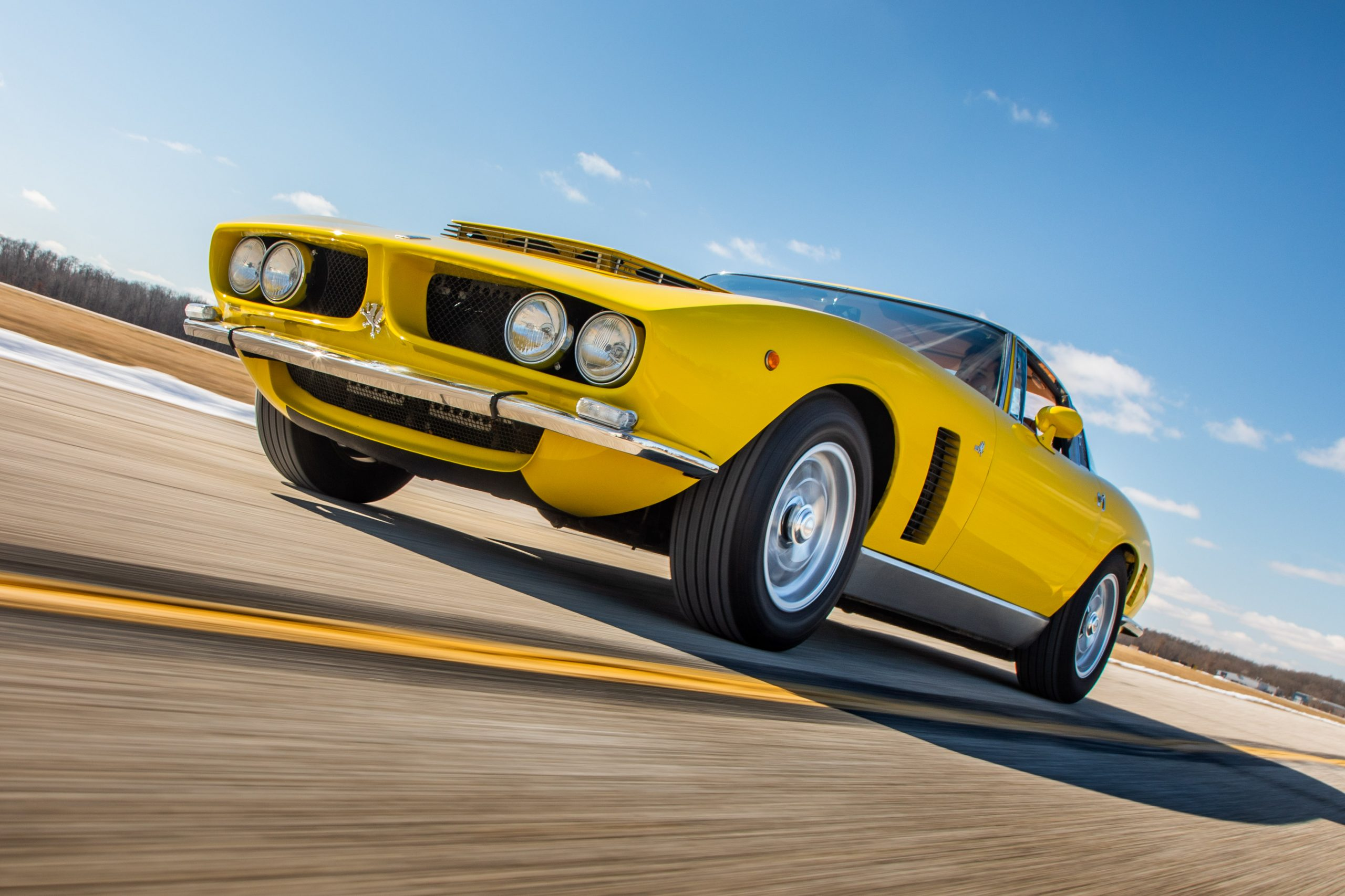 1968 Iso Grifo GL Series I by Bertone front three-quarter action