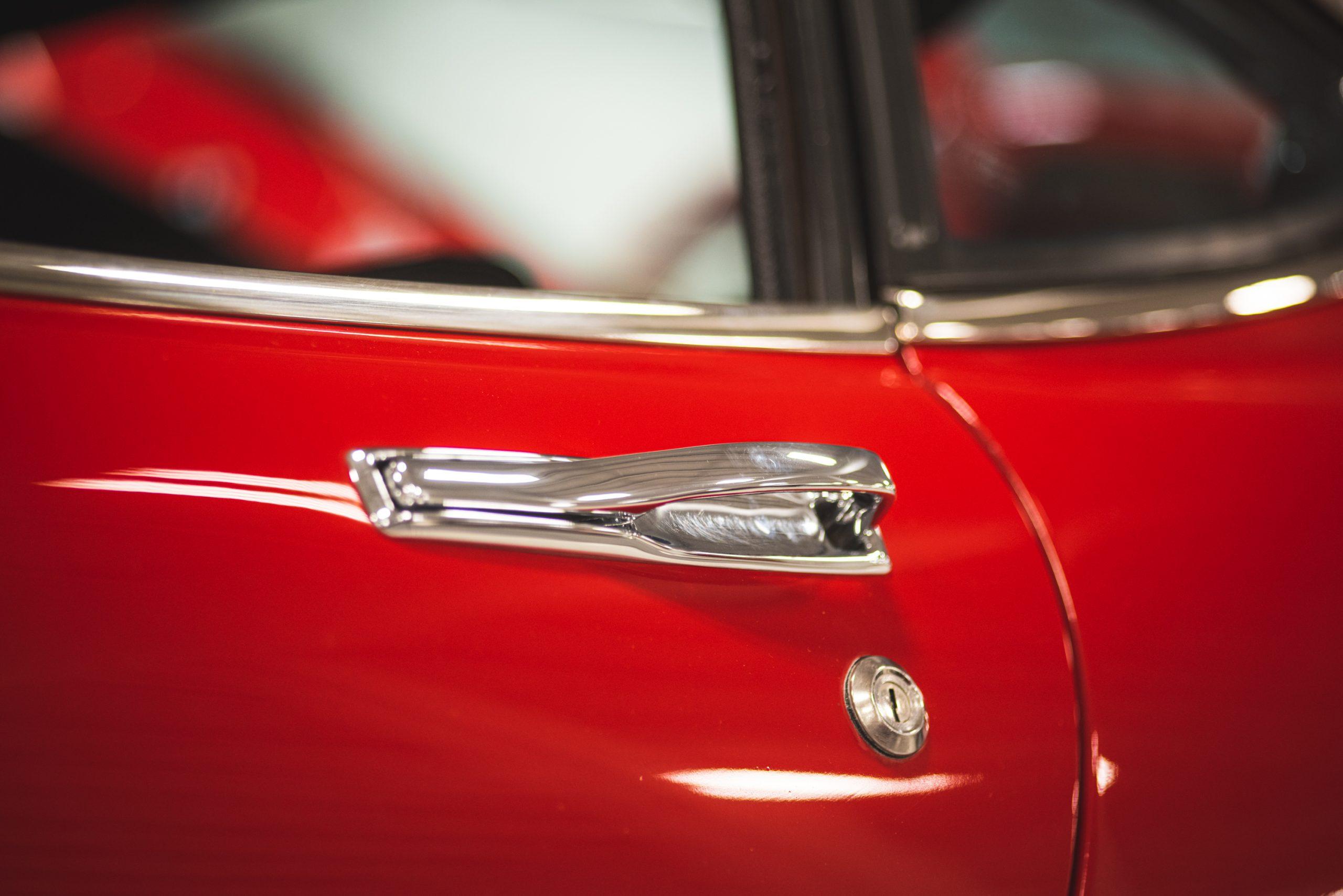 toyota 2000 gt door handle close up