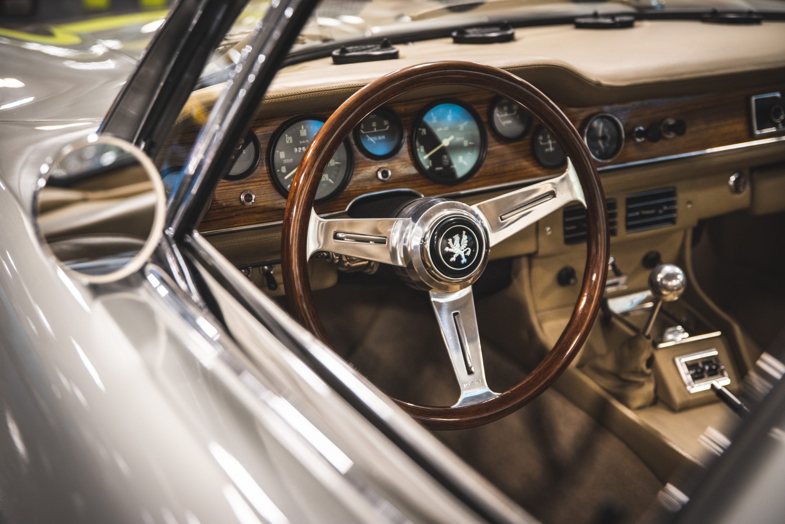 1968 iso grifo gl series interior steering wheel