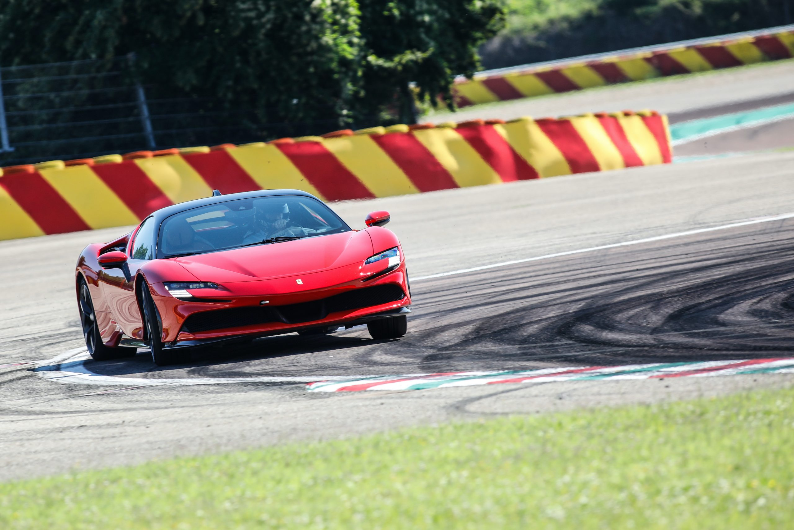 SF90 Stradale track action front