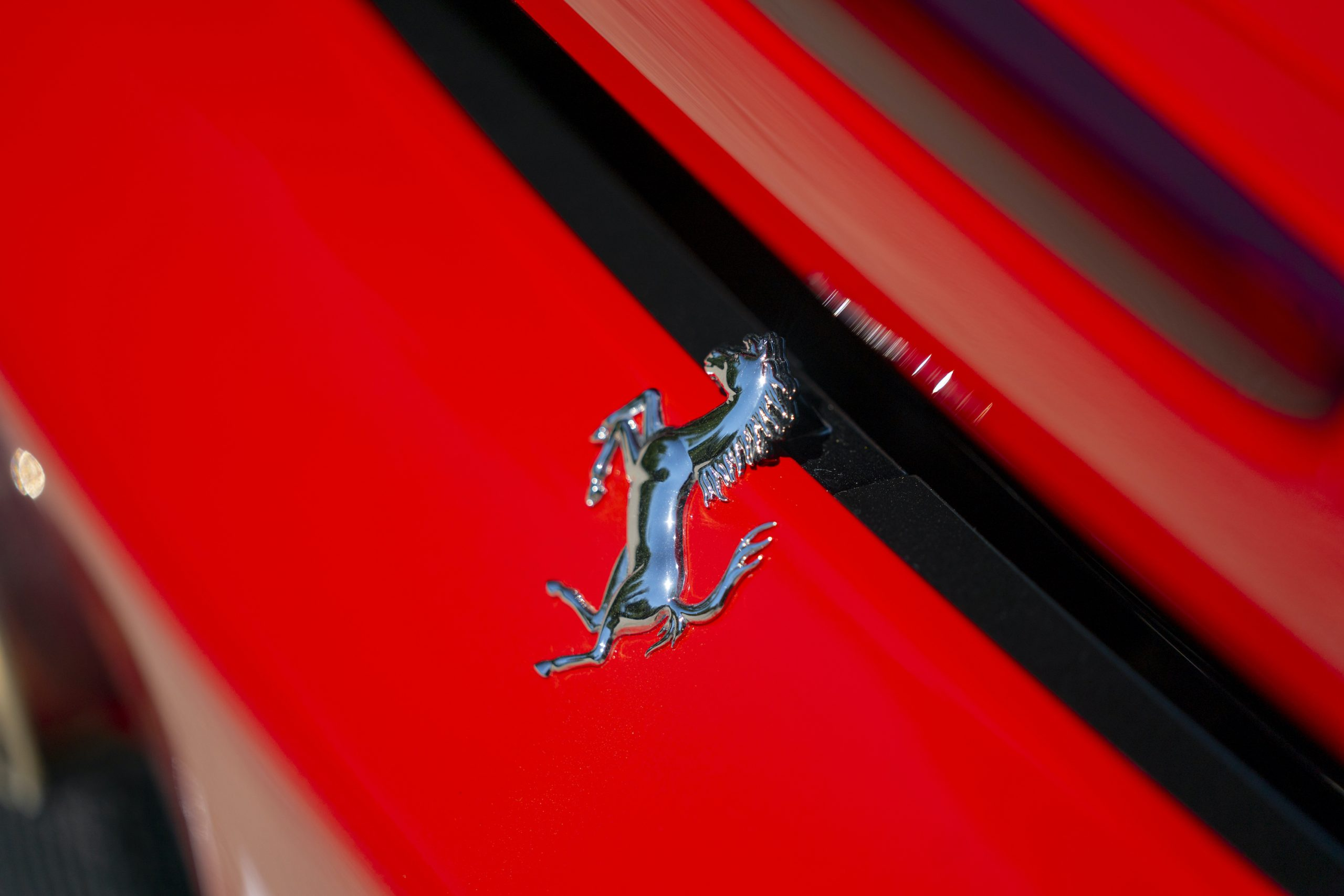 SF90 Stradale prancing horse logo silver