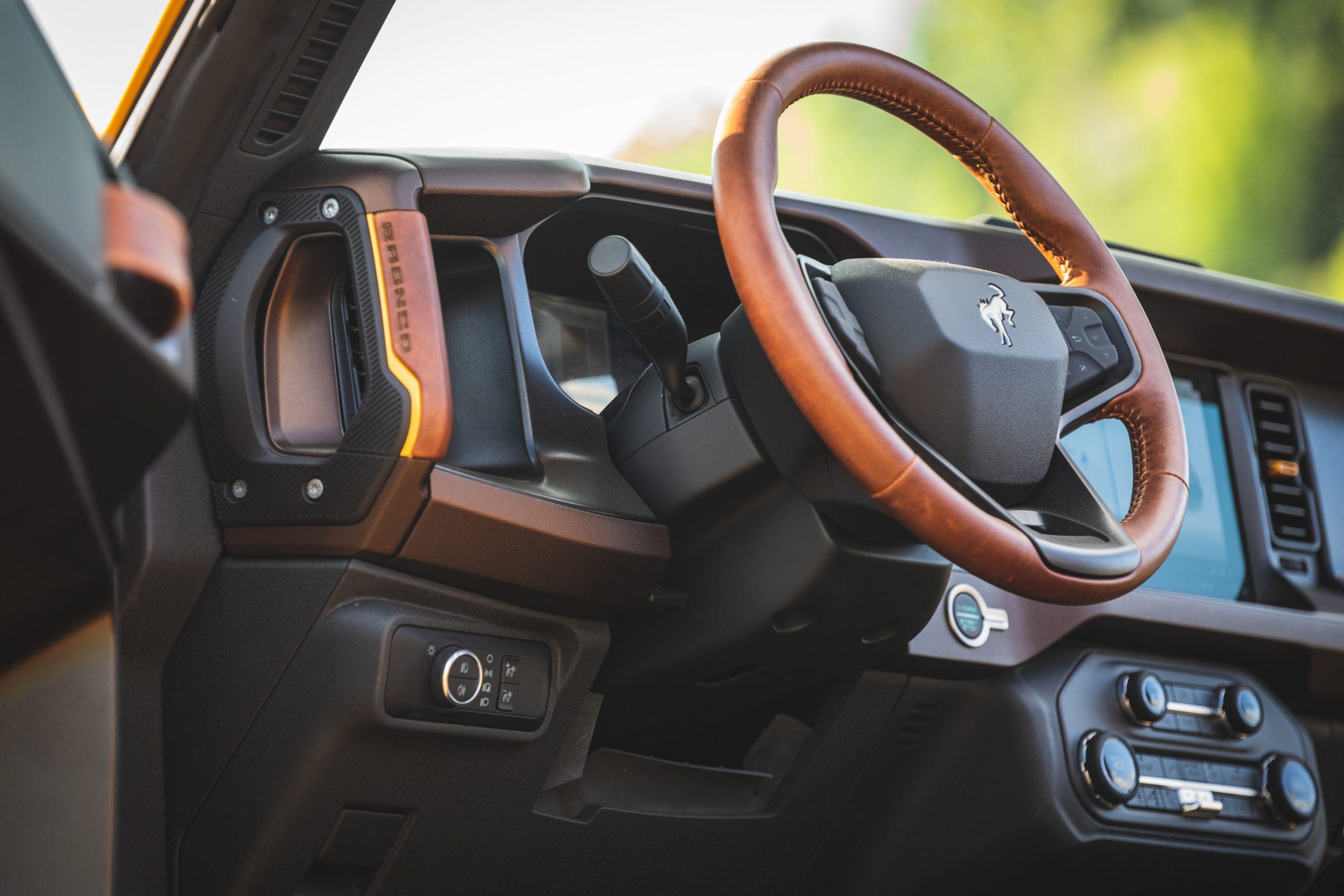 2021 Ford Bronco Two Door Interior Front Steering Wheel