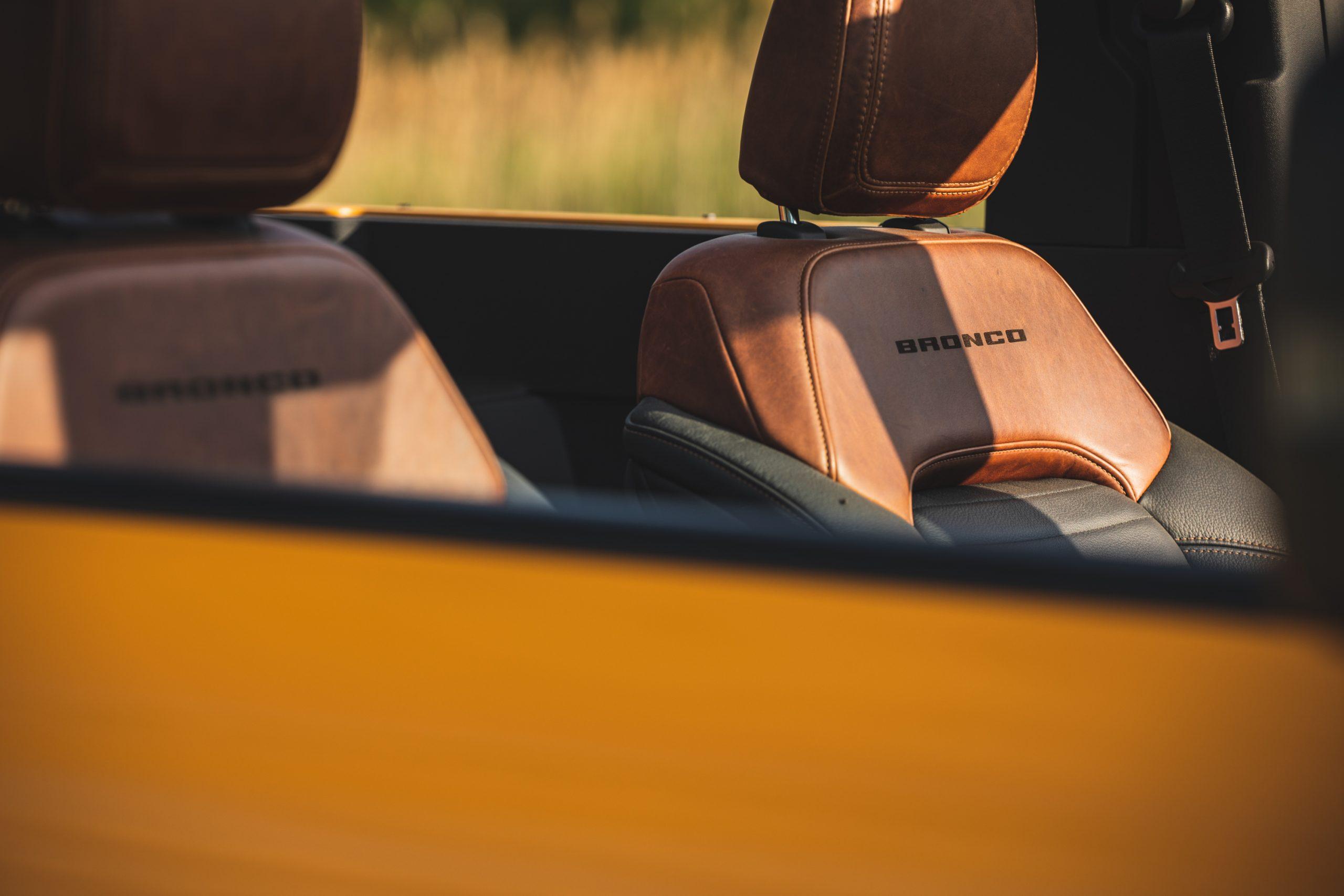 2021 Ford Bronco Two Door Seats