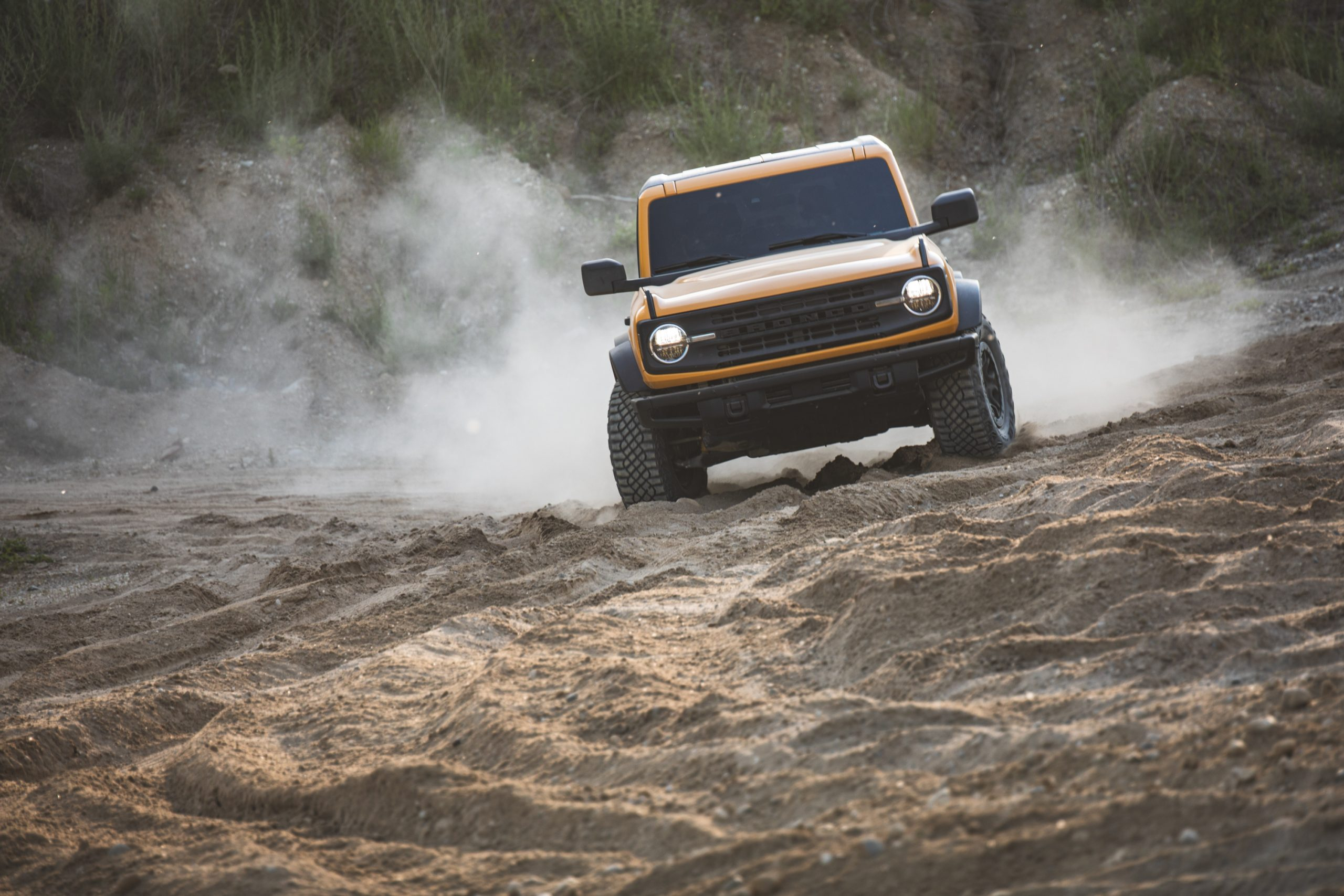 2021 Ford Bronco Two Door Front Sand Dune Action