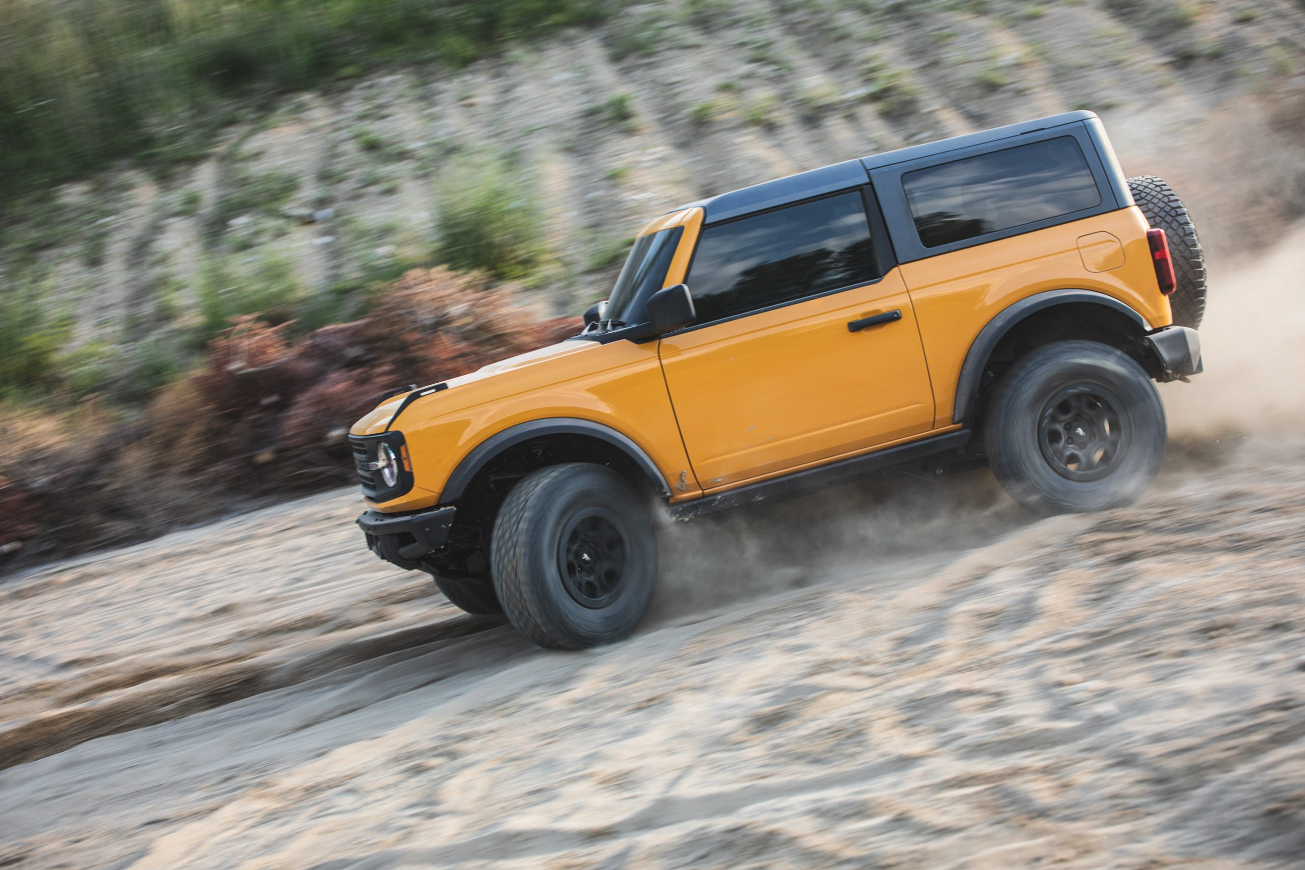 2021 Ford Bronco Two Door Side Sand Dune Action