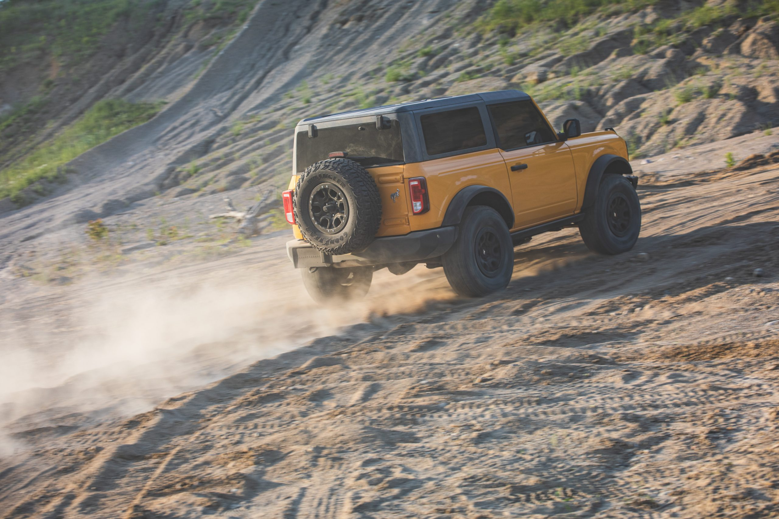 2021 Ford Bronco Two Door Rear Sand Dune Action
