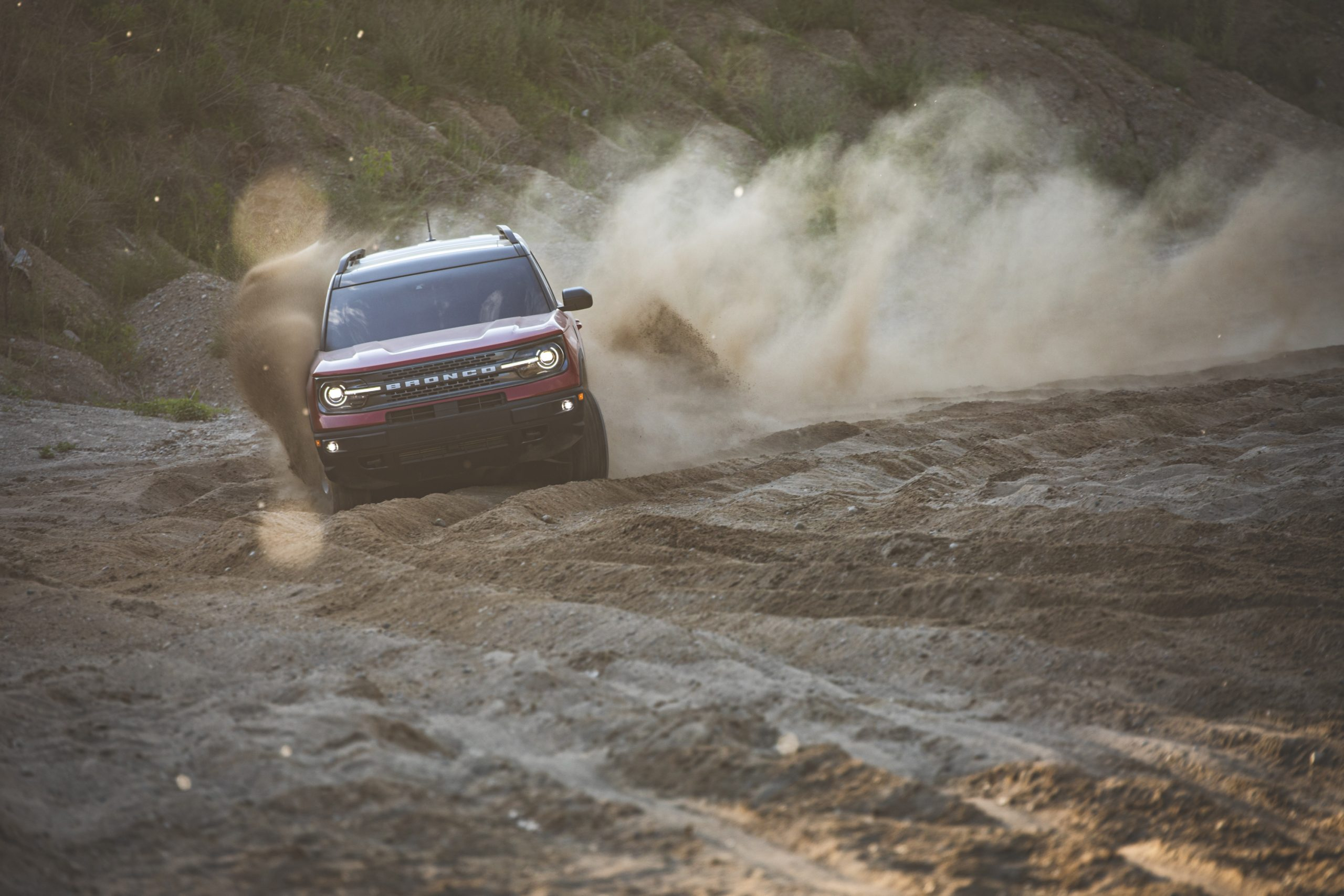 2021 Ford Bronco Sport Sand Dune Front Action