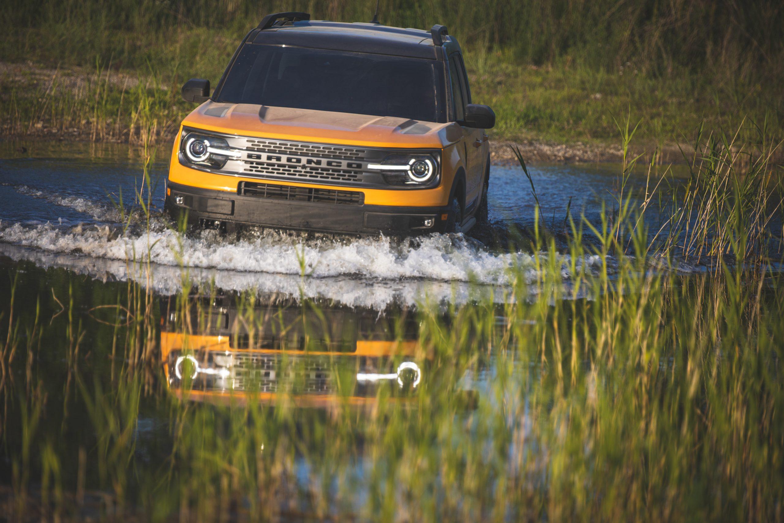 2021 Ford Bronco Two Door Water Crossing Front Action