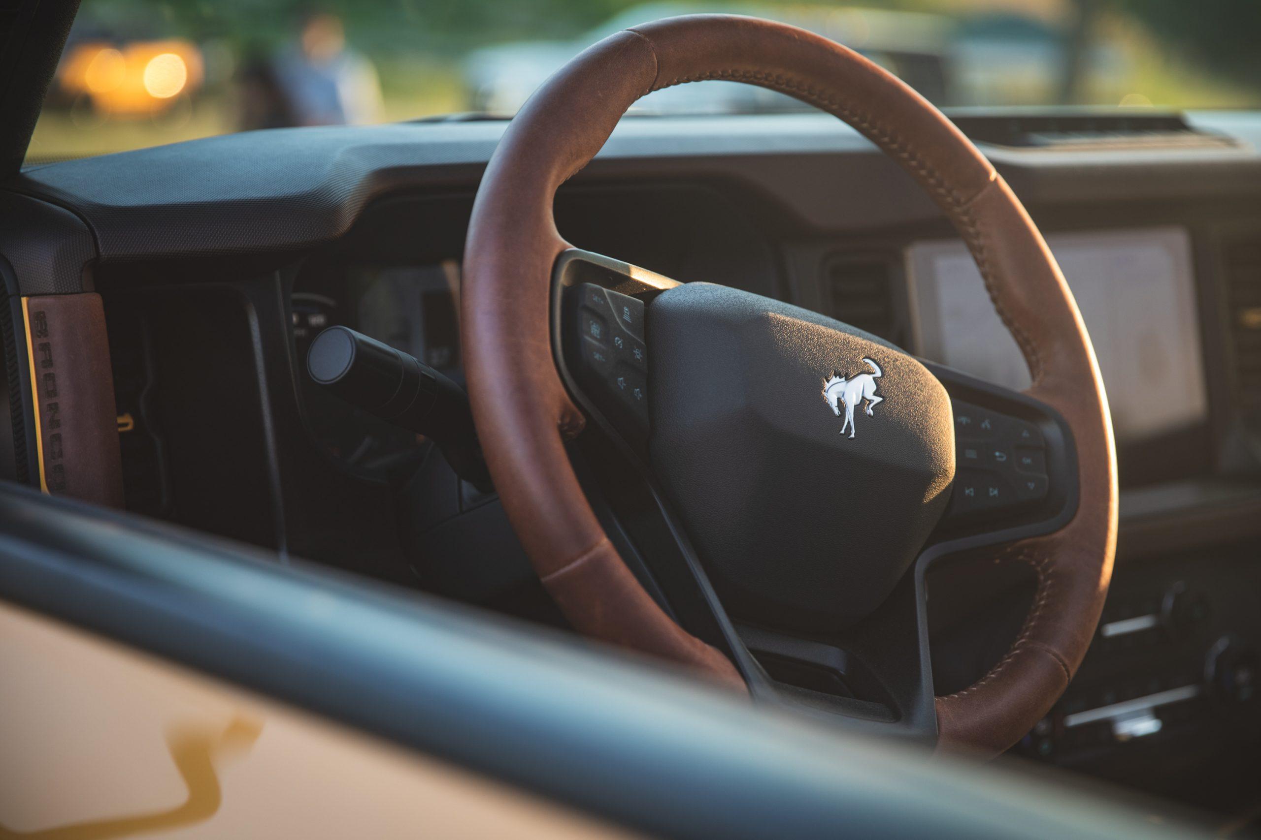 2021 Ford Bronco Two Door Steering Wheel