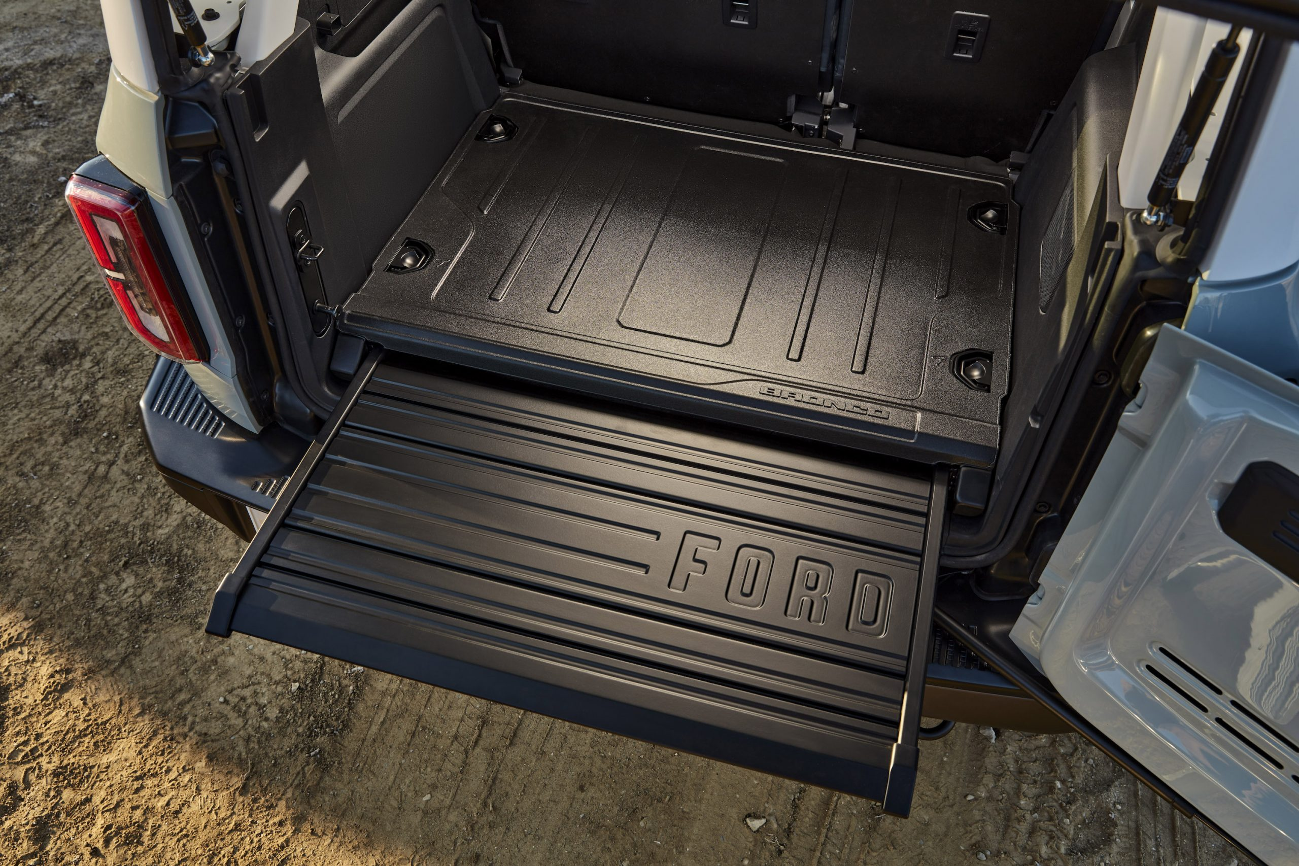 2021 Ford Bronco Four Door Open Tailgate