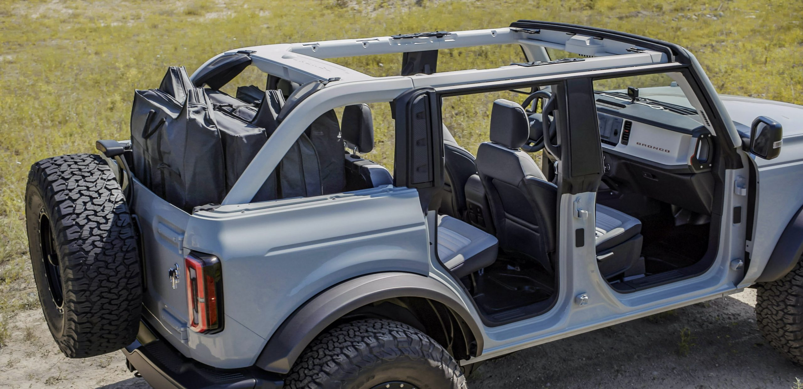 2021 Ford Bronco Four Door Rear Three-Quarter No Doors