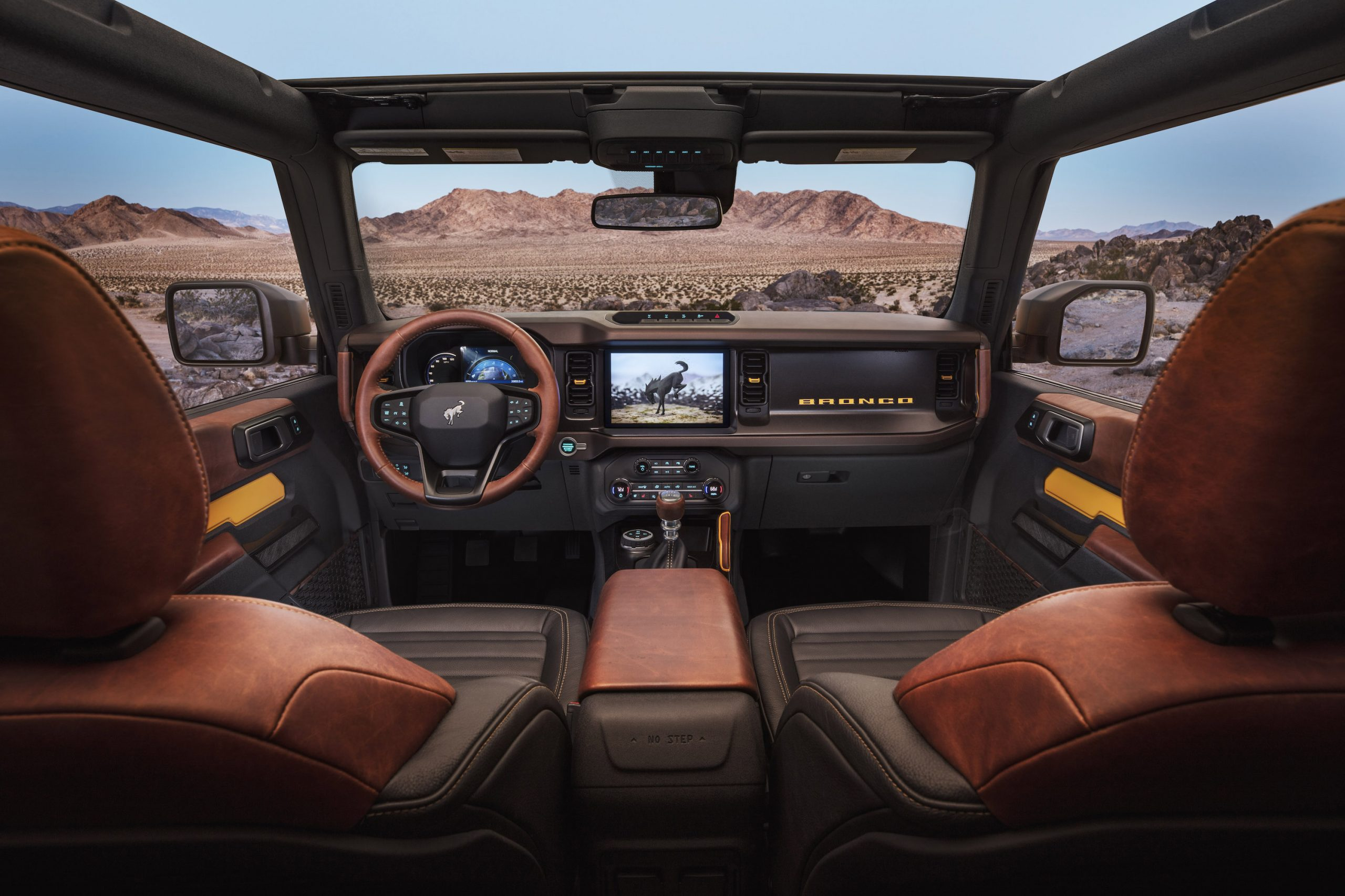 2021 Ford Bronco Two Door Interior Front Facing