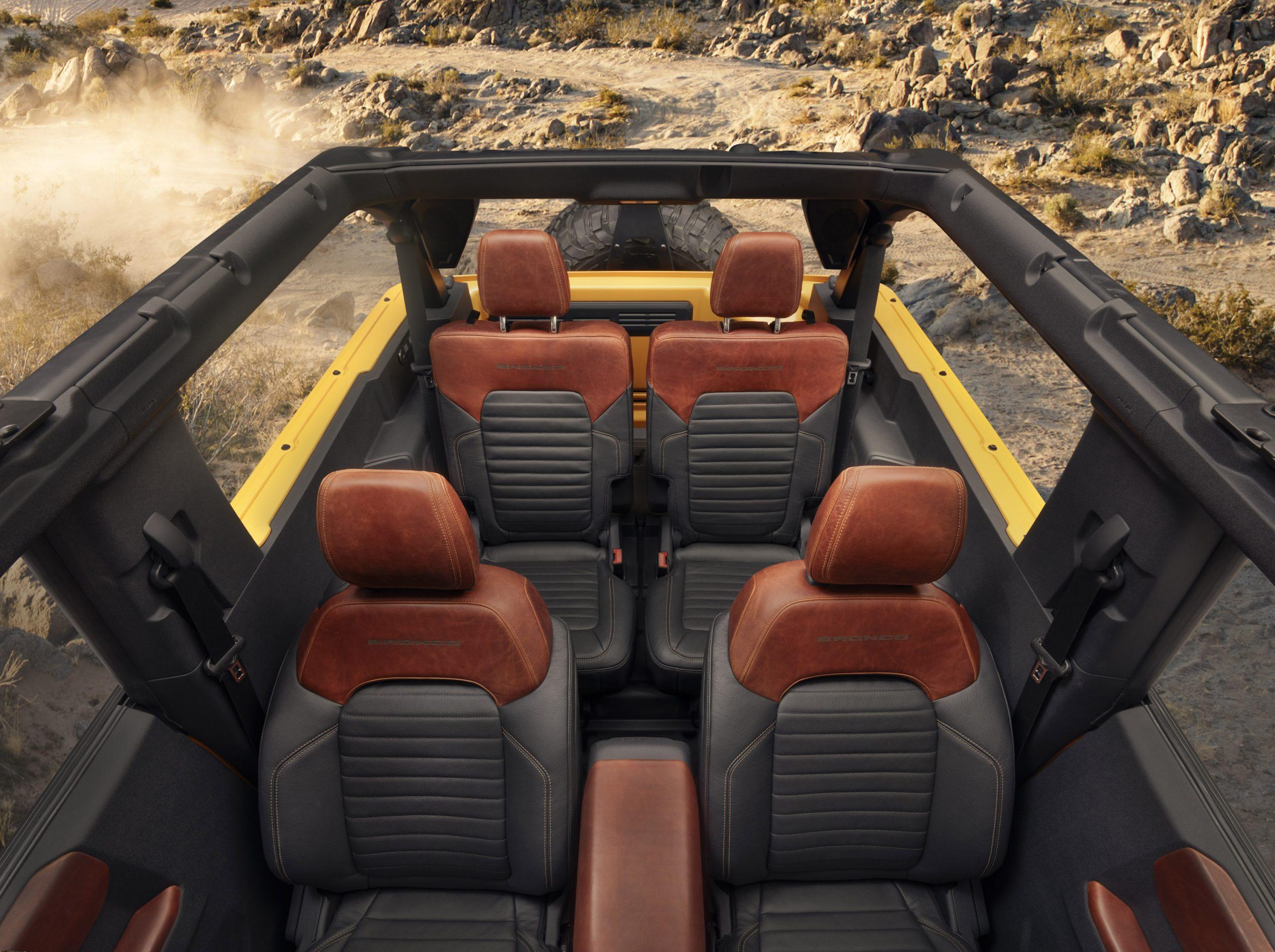 2021 Ford Bronco Two Door Interior Rear Facing