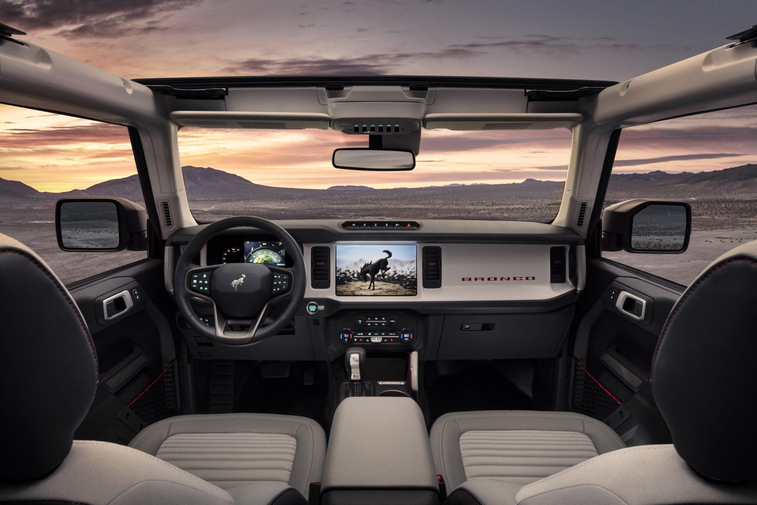 2021 Ford Bronco Four Door Interior Front