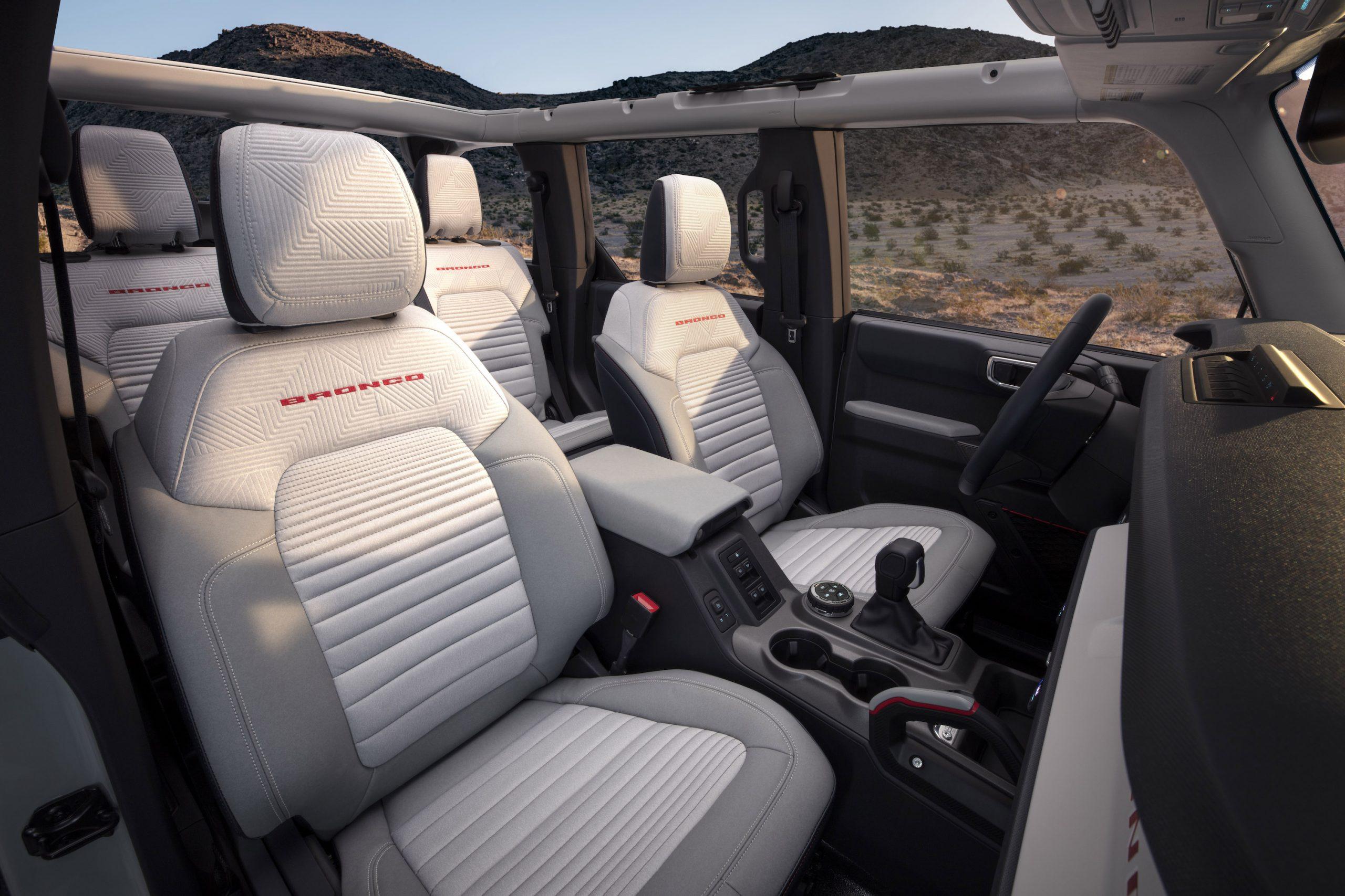 2021 Ford Bronco Four Door Interior