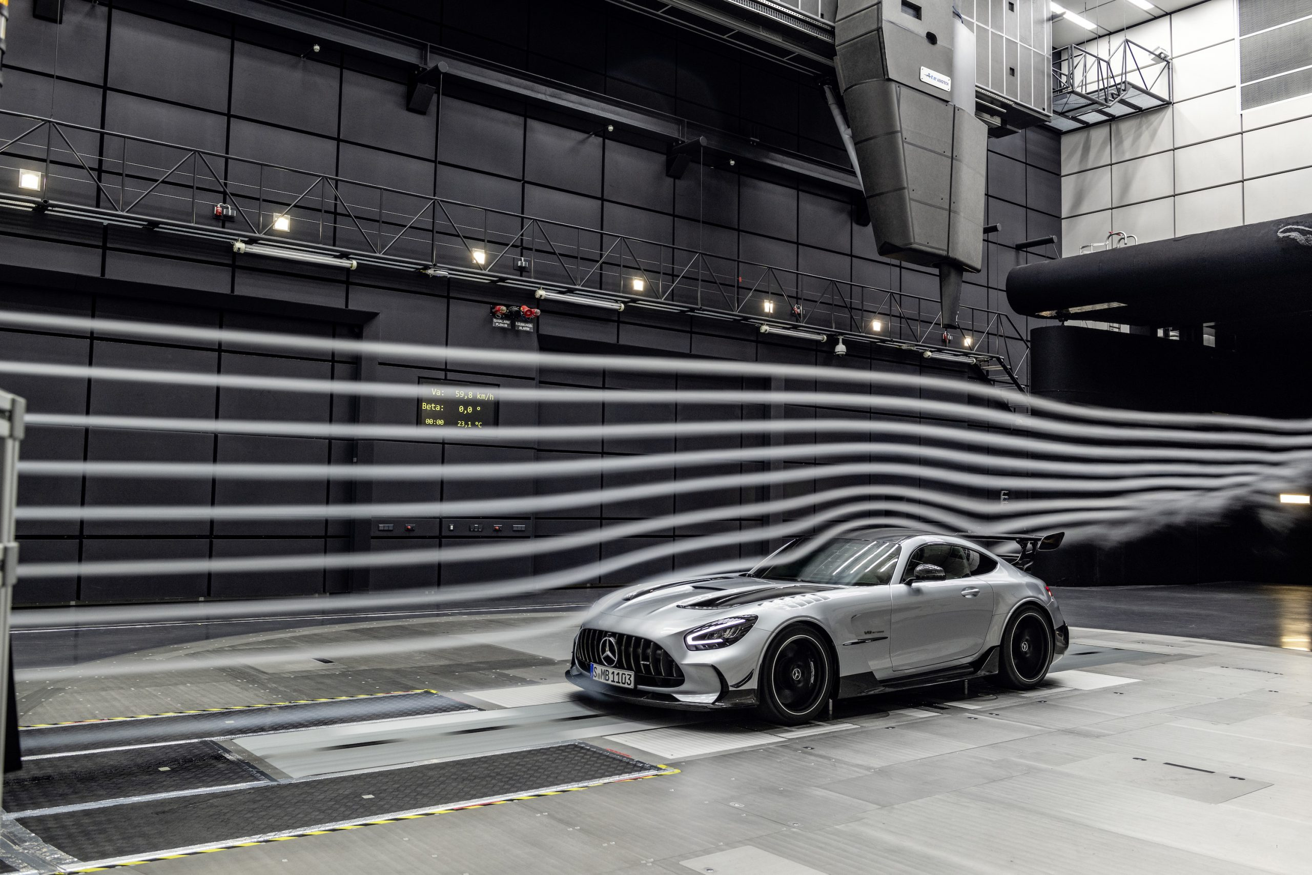 Mercedes-AMG GT Black Series Front Three-Quarter Wind Tunnel