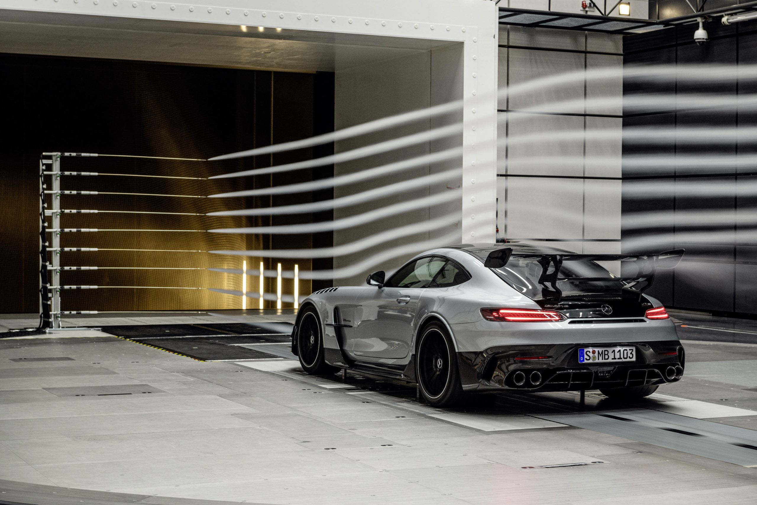 Mercedes-AMG GT Black Series Rear Three-Quarter Wind Tunnel