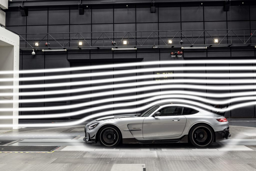 Mercedes-AMG GT Black Series Side Profile Wind Tunnel