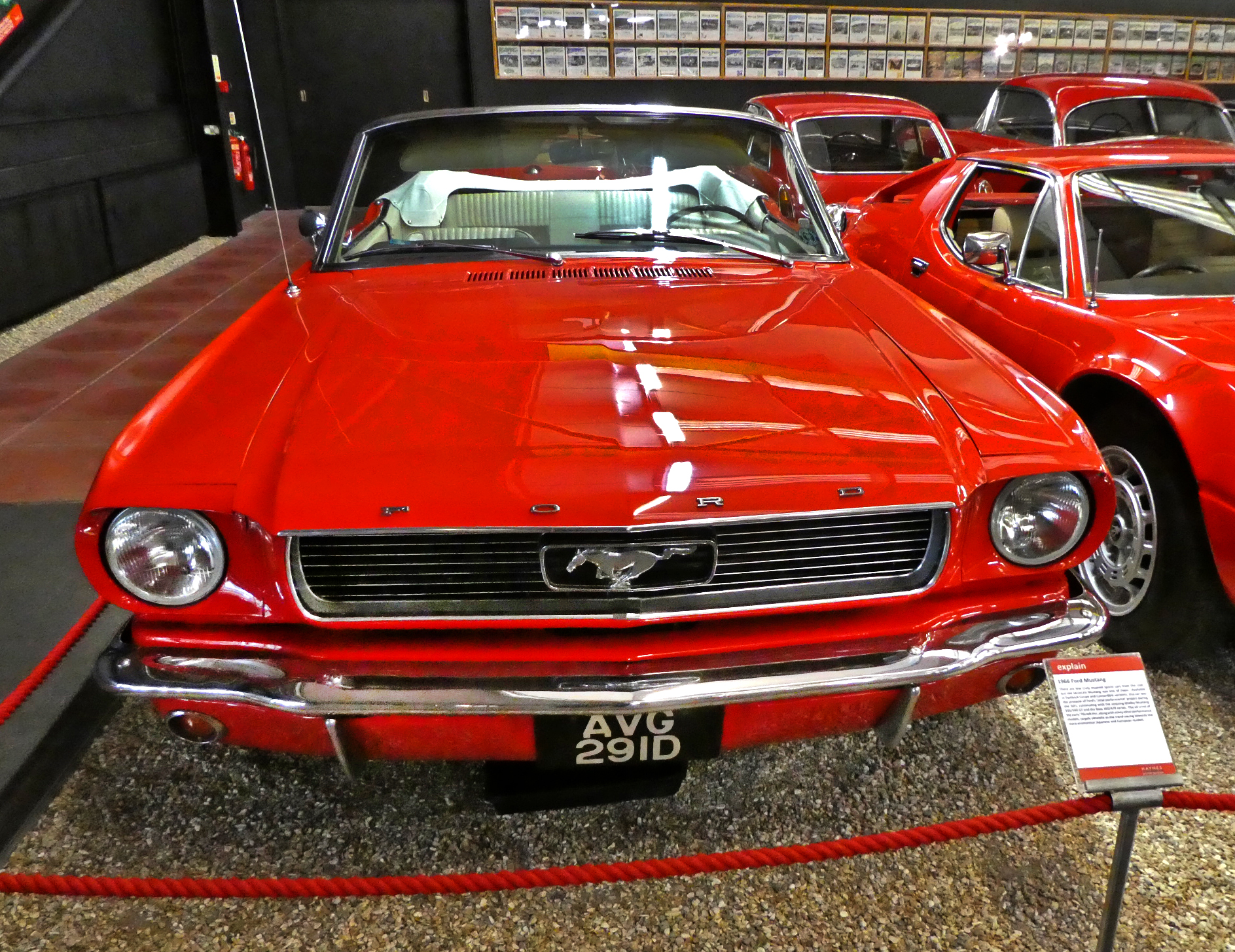 Red Room Ford Mustang front