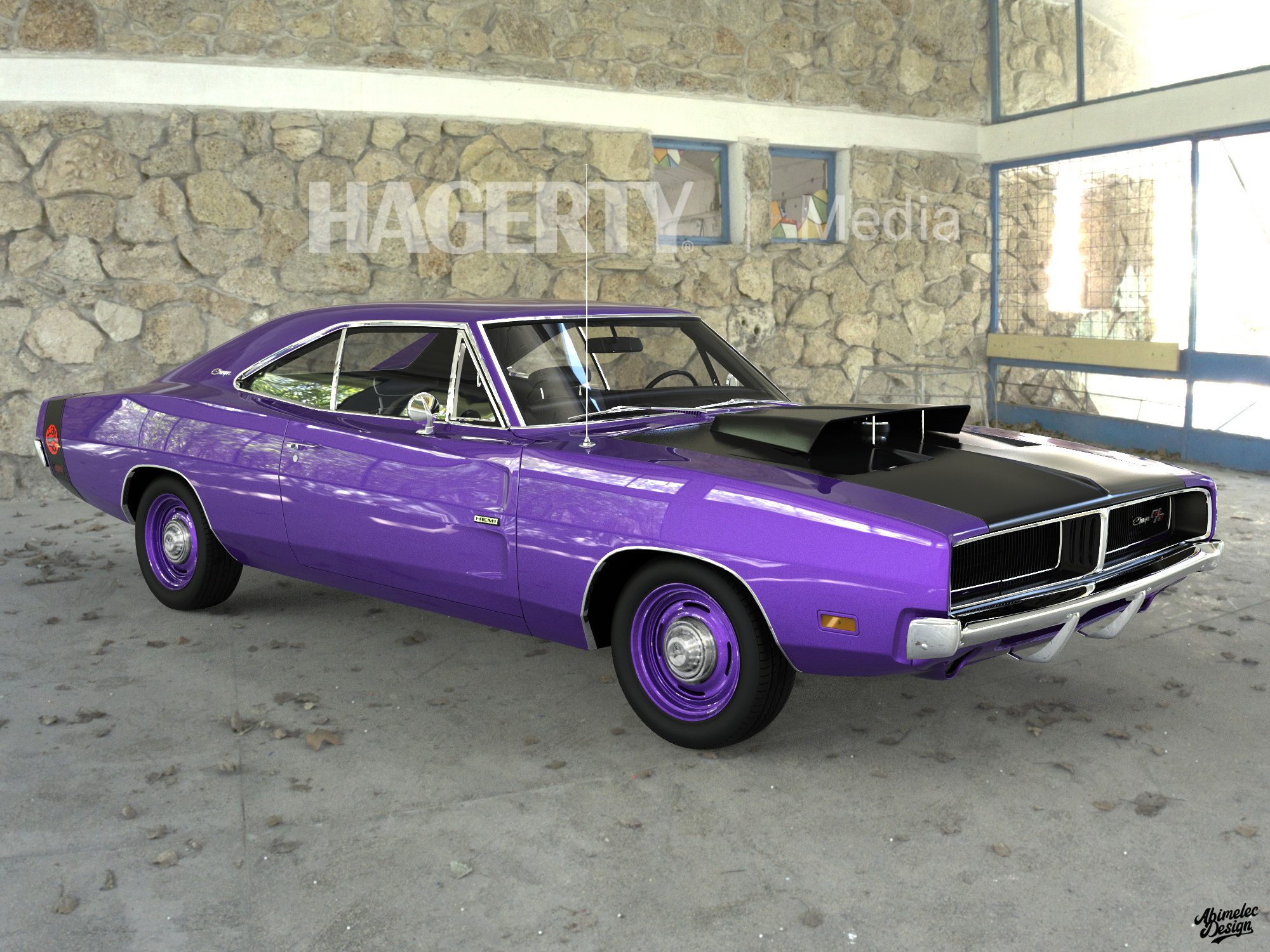 69 Charger Hellcat Purple