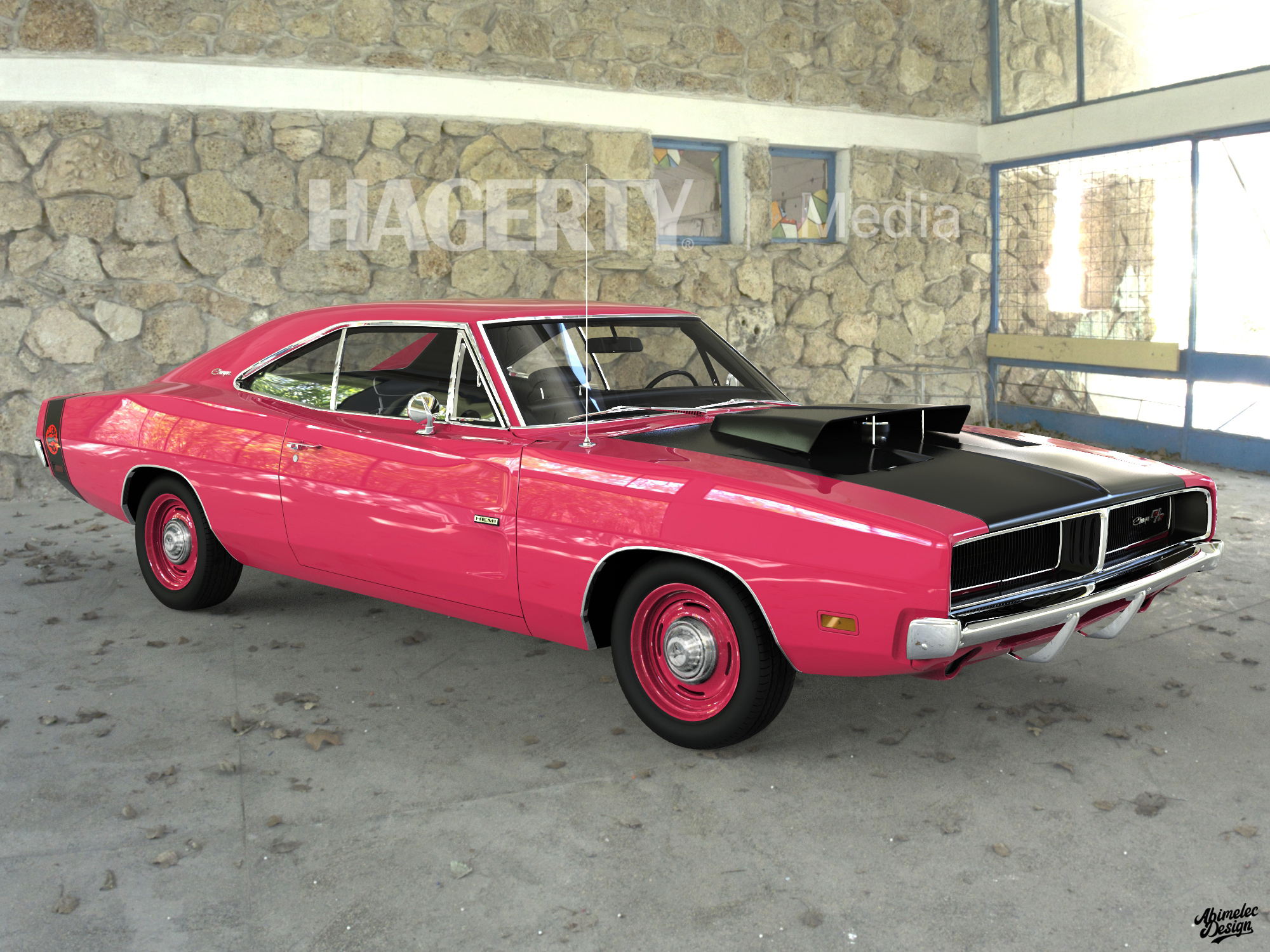 69 Charger Hellcat Pink