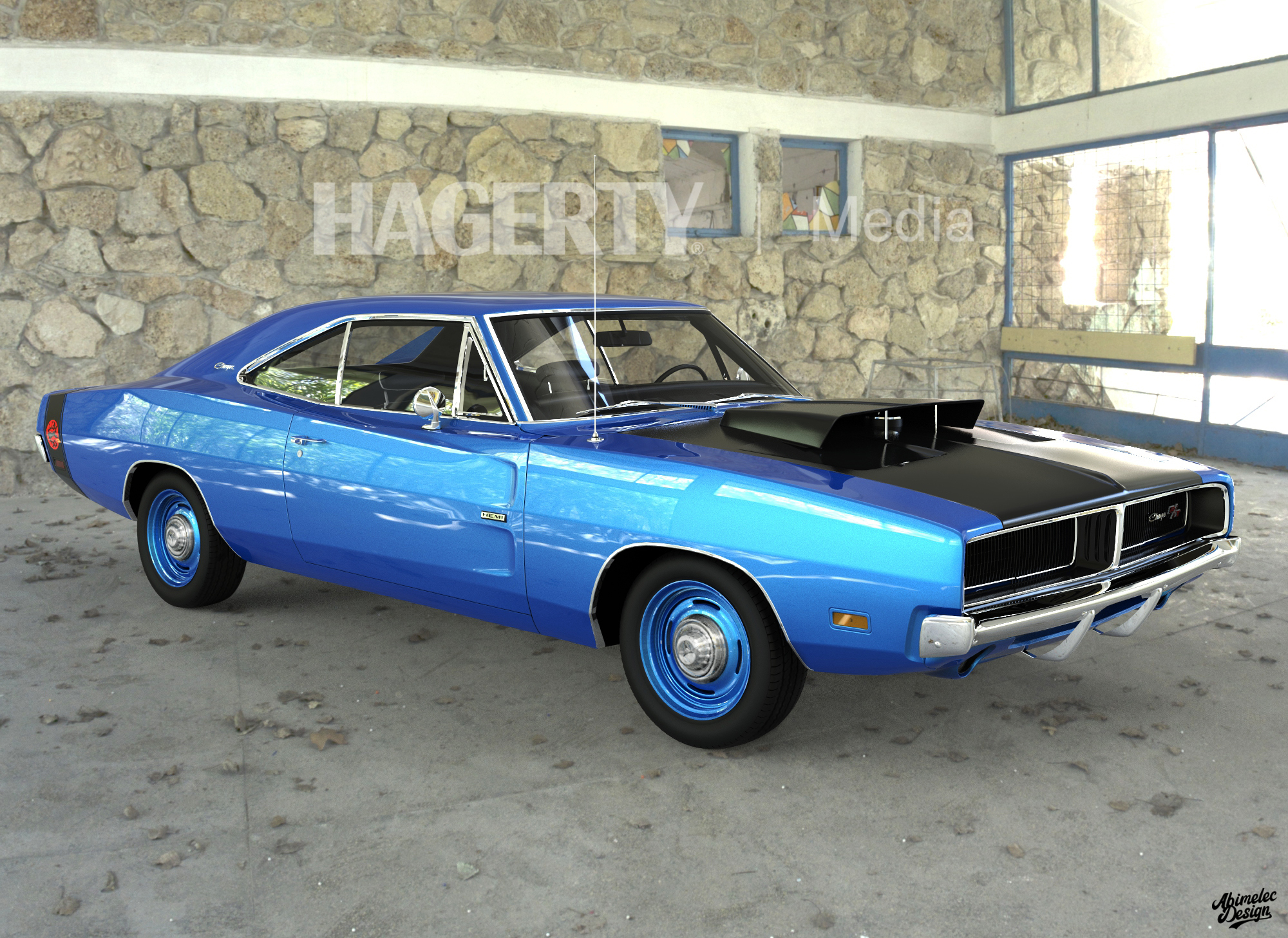 69 Charger Hellcat Blue