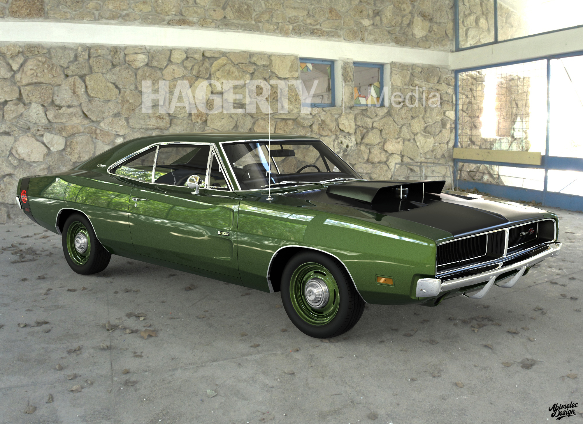 69 Charger Hellcat Green