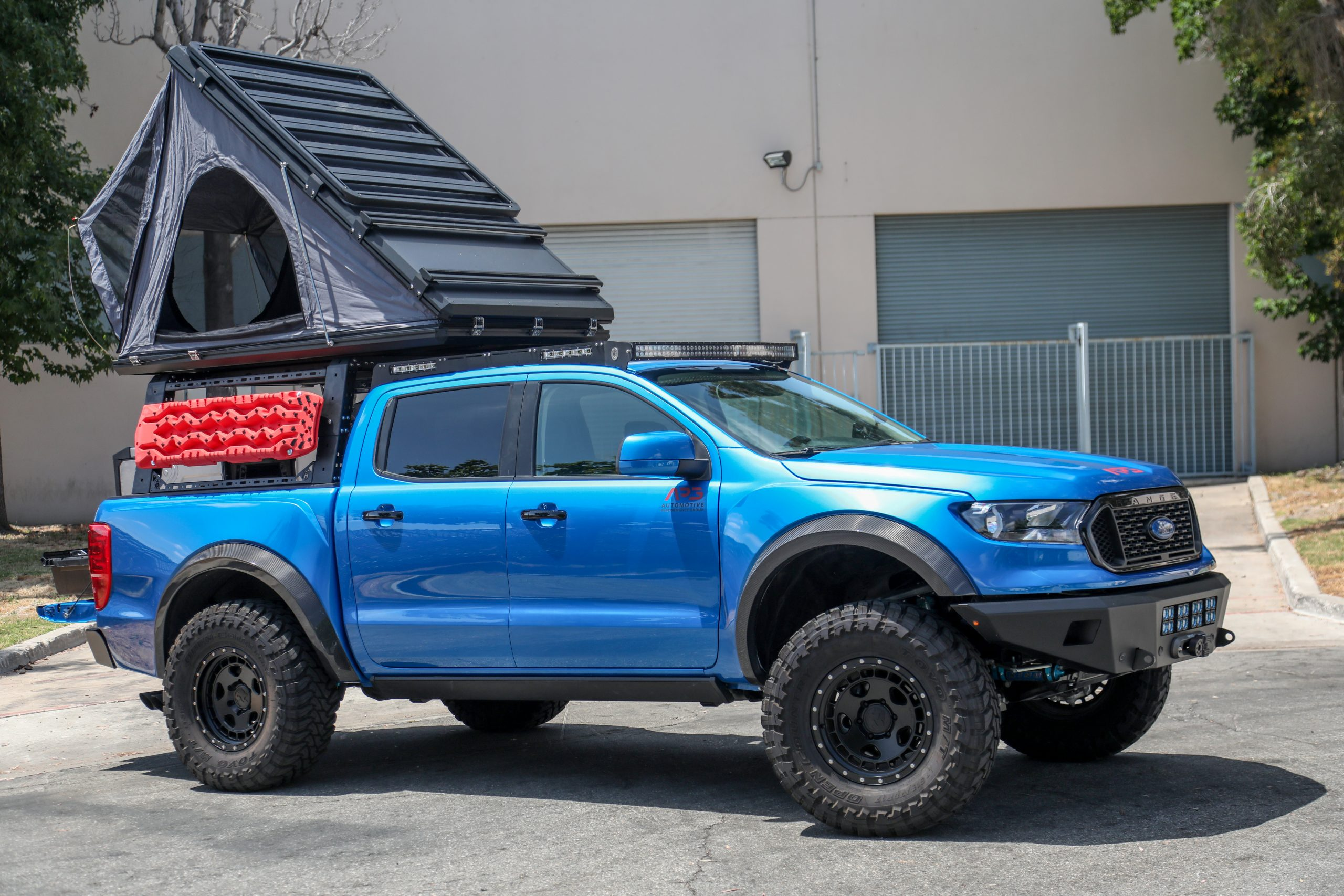 APG Ford Ranger Prorunner front three-quarter tent up