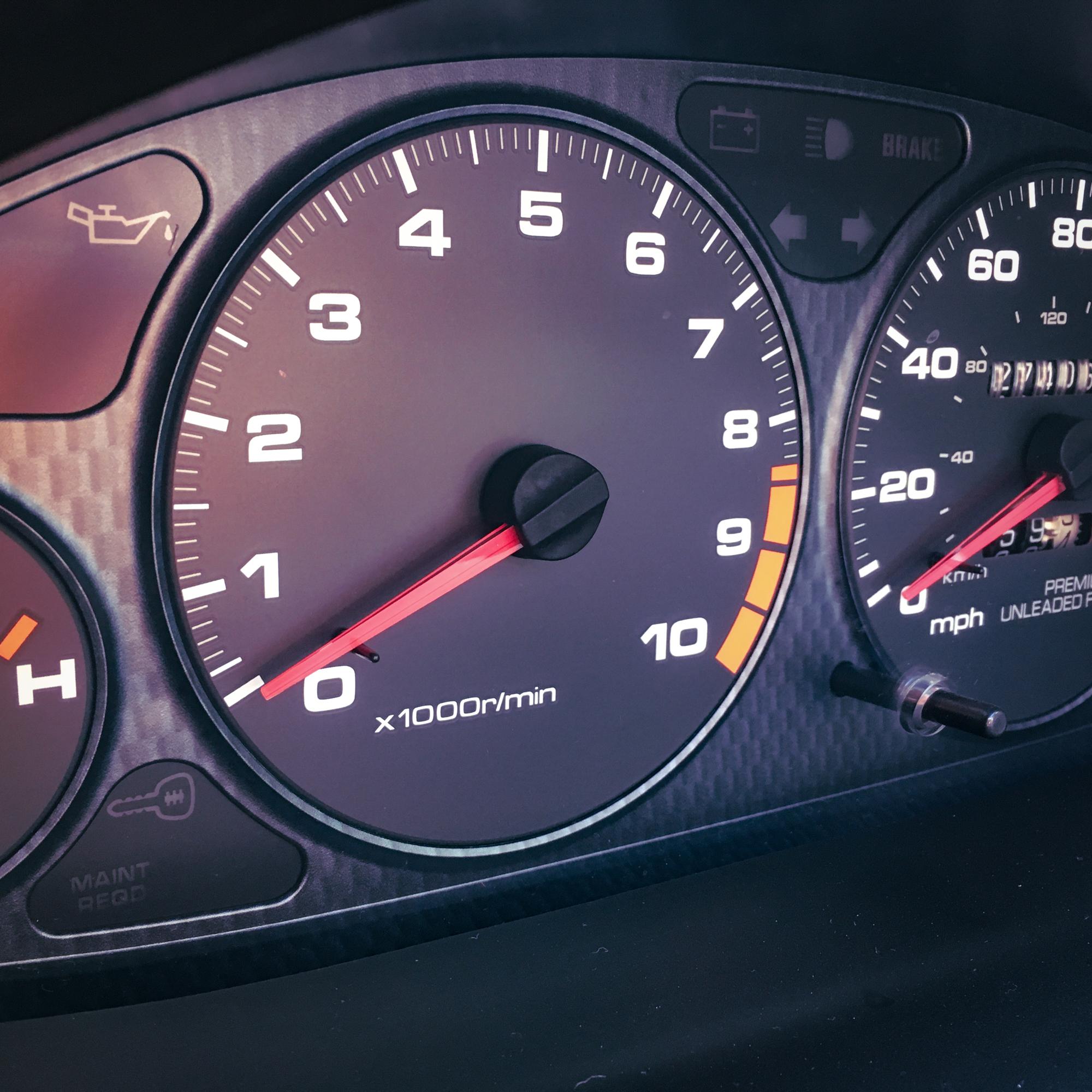 Acura Integra Type R speedometer