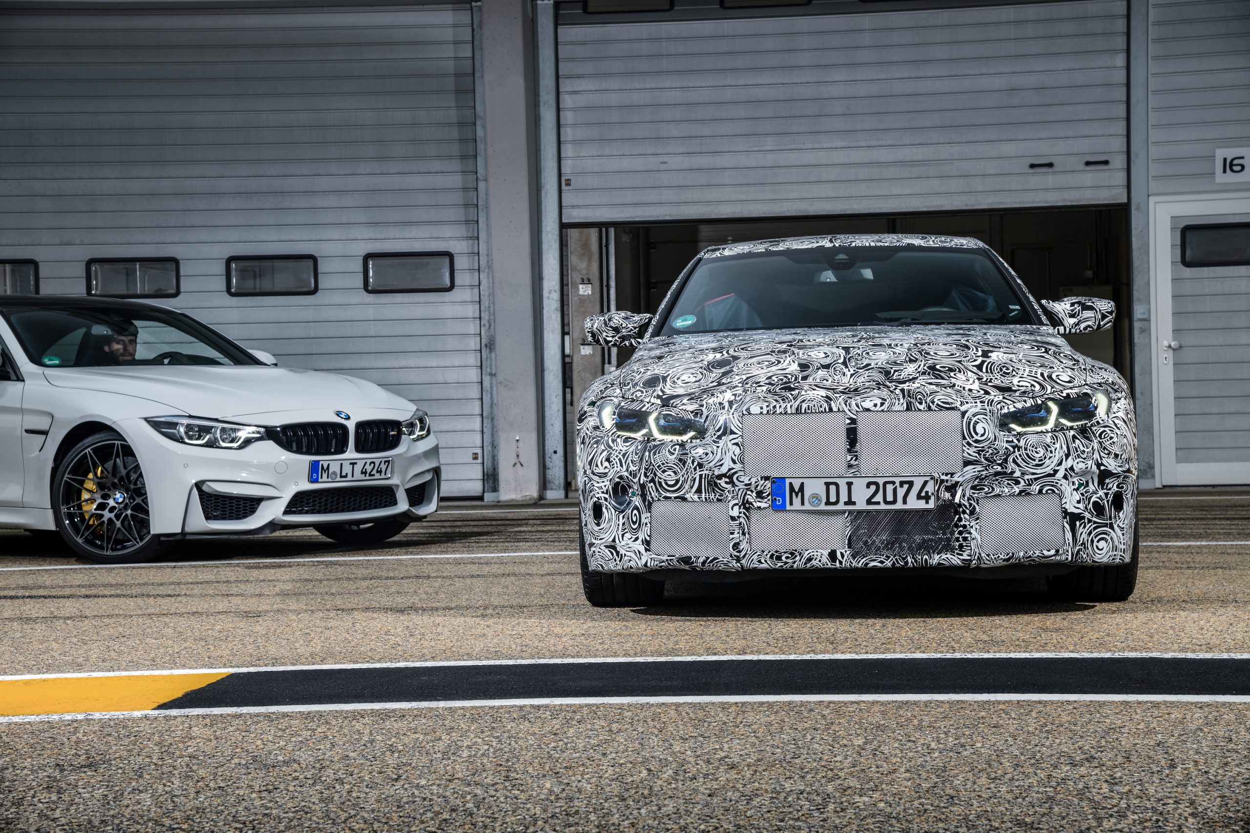 BMW M4 Coupe and M3 Sedan Front and Three-Quarter