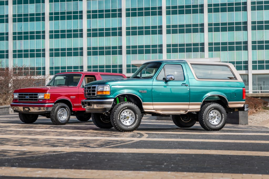 1991 and 1996 Ford Broncos