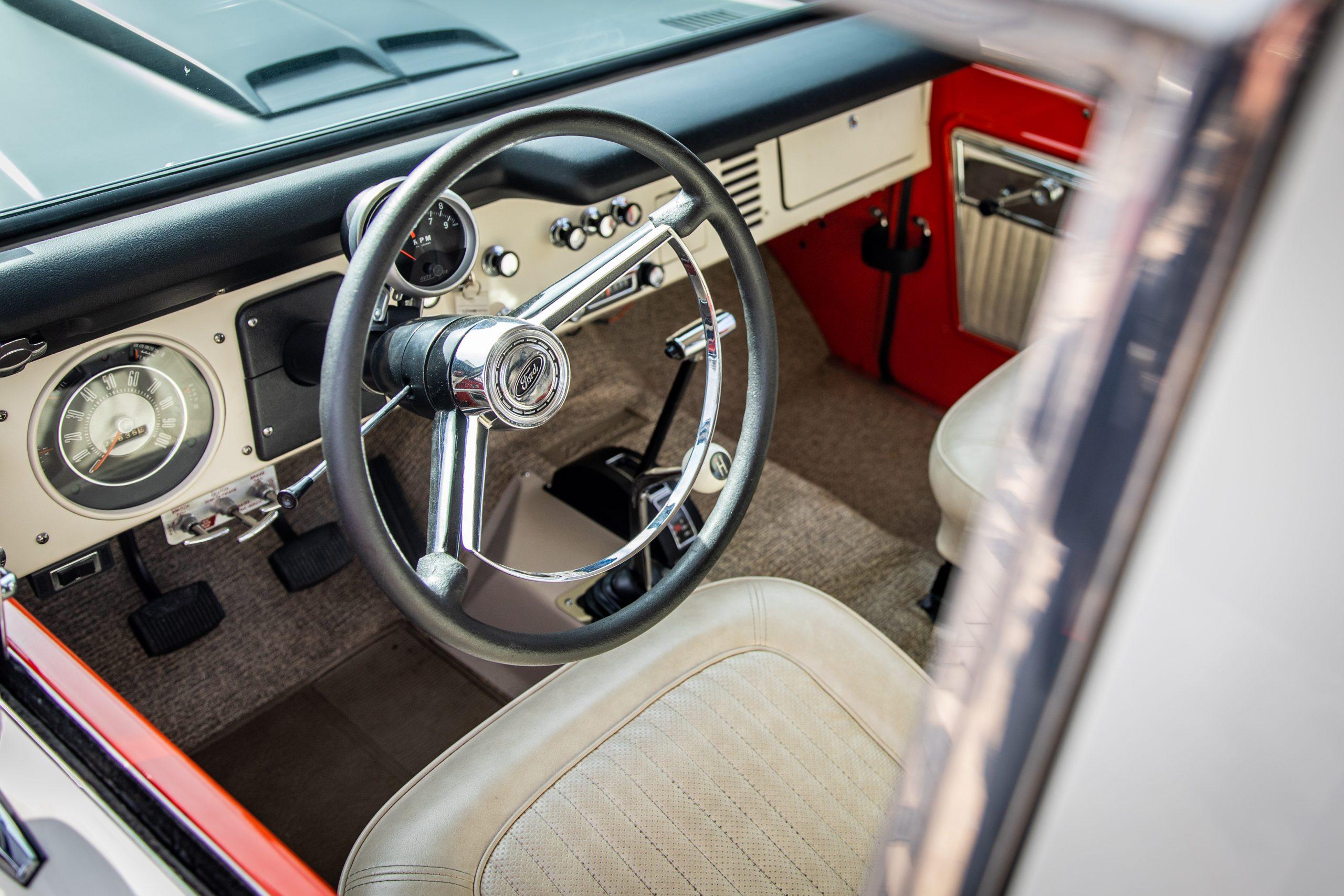Baja Racing Ford Bronco Interior