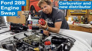 Carb, distributor, and other top-side bits | Sunbeam Tiger engine swap project – Ep. 10