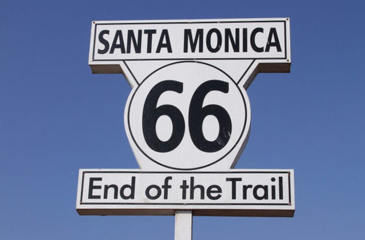 Route 66 sign in Santa Monica