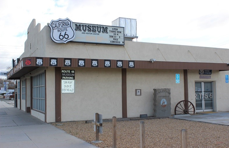 California Route 66 Museum - side of building