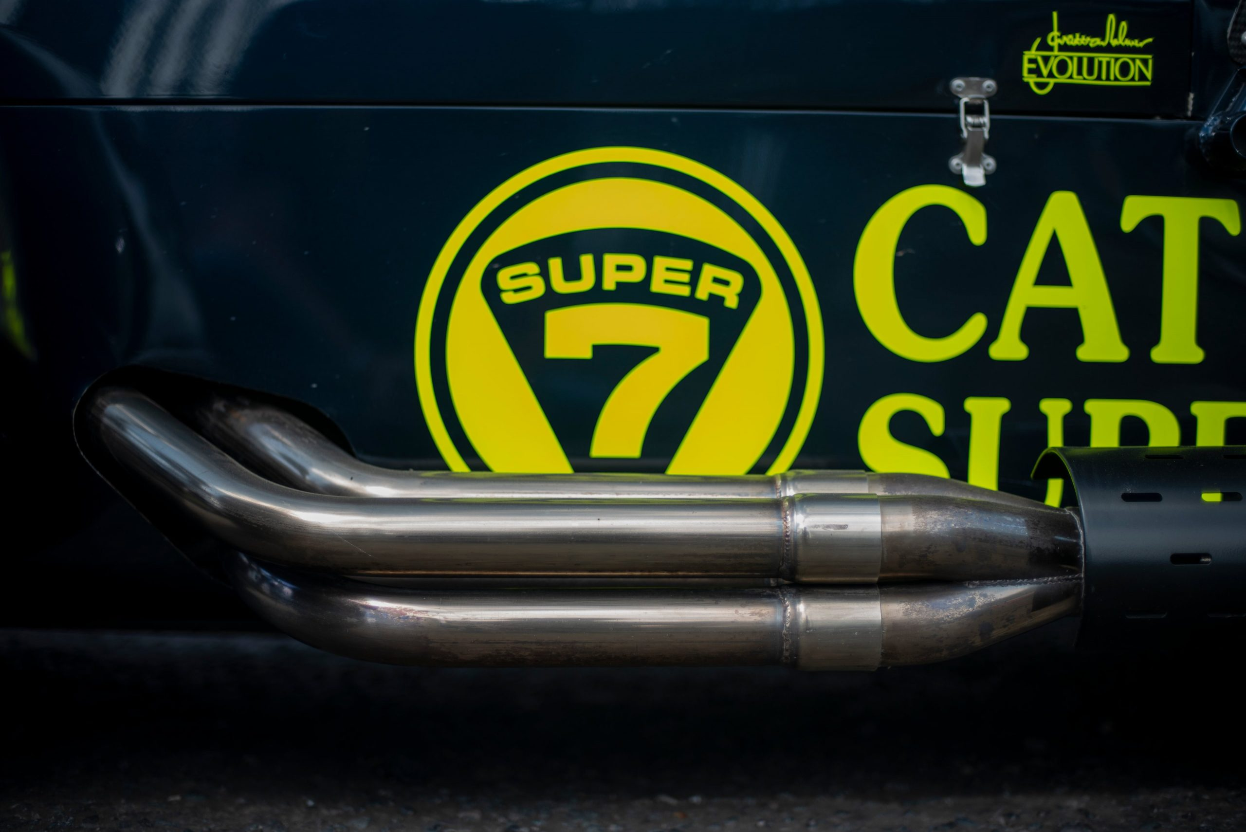Caterham 7 JPE decal exhaust side